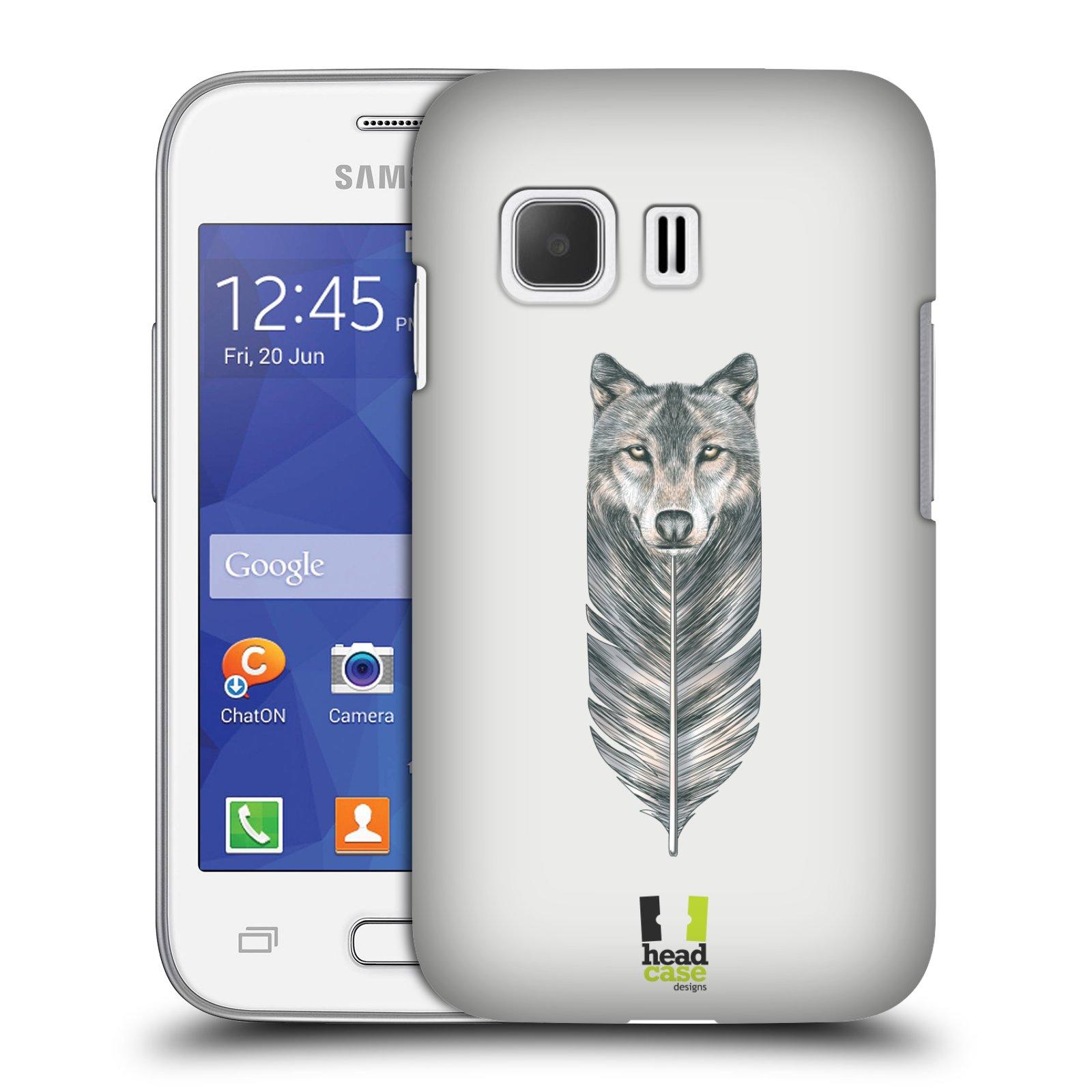 HEAD CASE plastový obal na mobil SAMSUNG Galaxy Young 2 (G130) vzor zvířecí pírka vlk