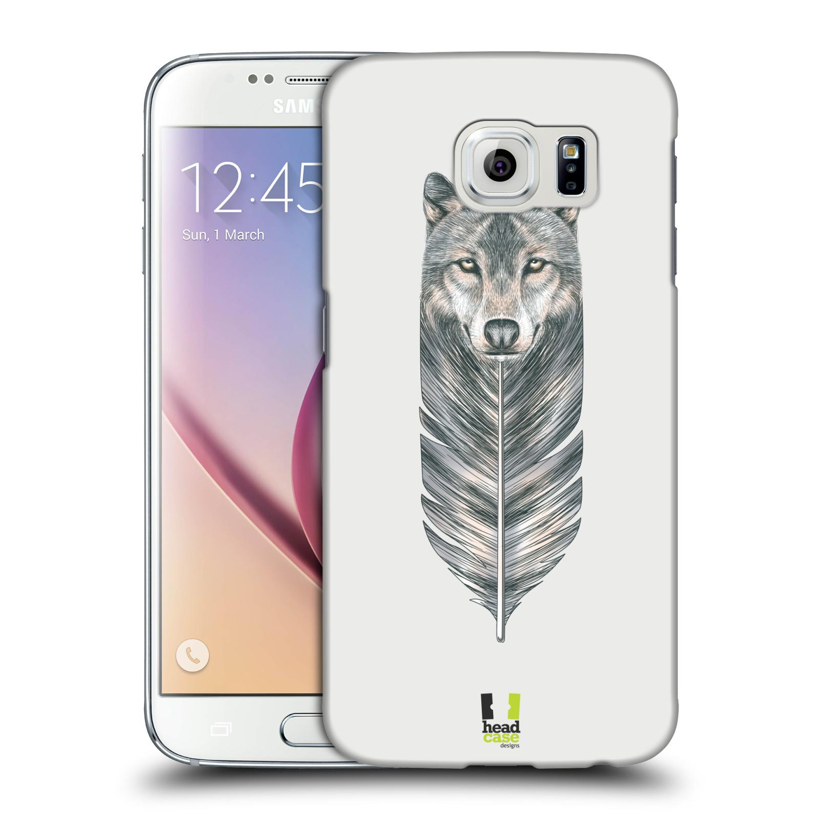 HEAD CASE plastový obal na mobil SAMSUNG Galaxy S6 (G9200, G920F) vzor zvířecí pírka vlk