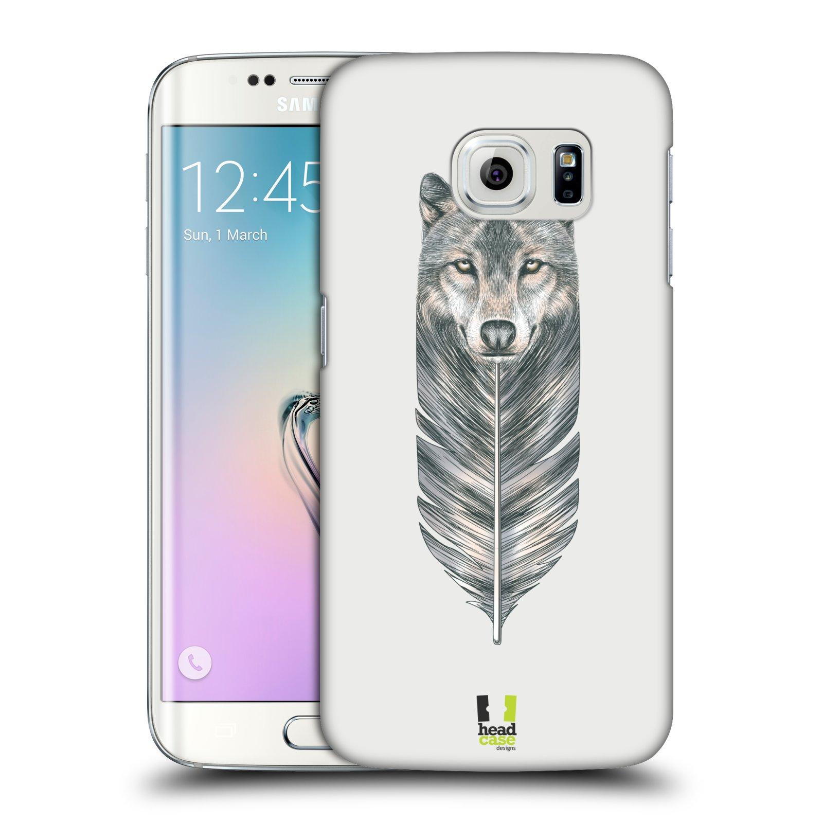 HEAD CASE plastový obal na mobil SAMSUNG Galaxy S6 EDGE (G9250, G925, G925F) vzor zvířecí pírka vlk