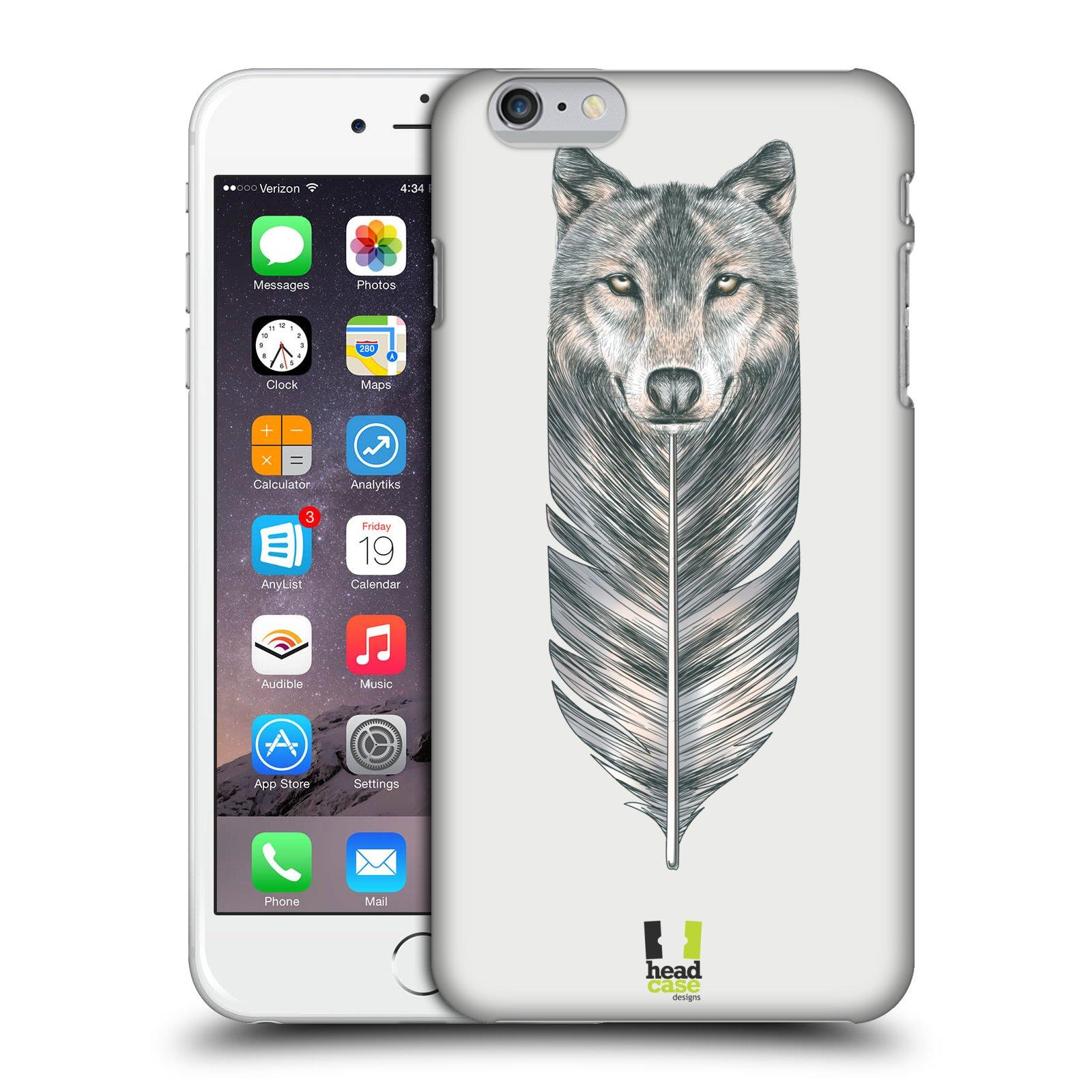 Plastové pouzdro pro mobil Apple Iphone 6 PLUS / 6S PLUS vzor zvířecí pírka vlk
