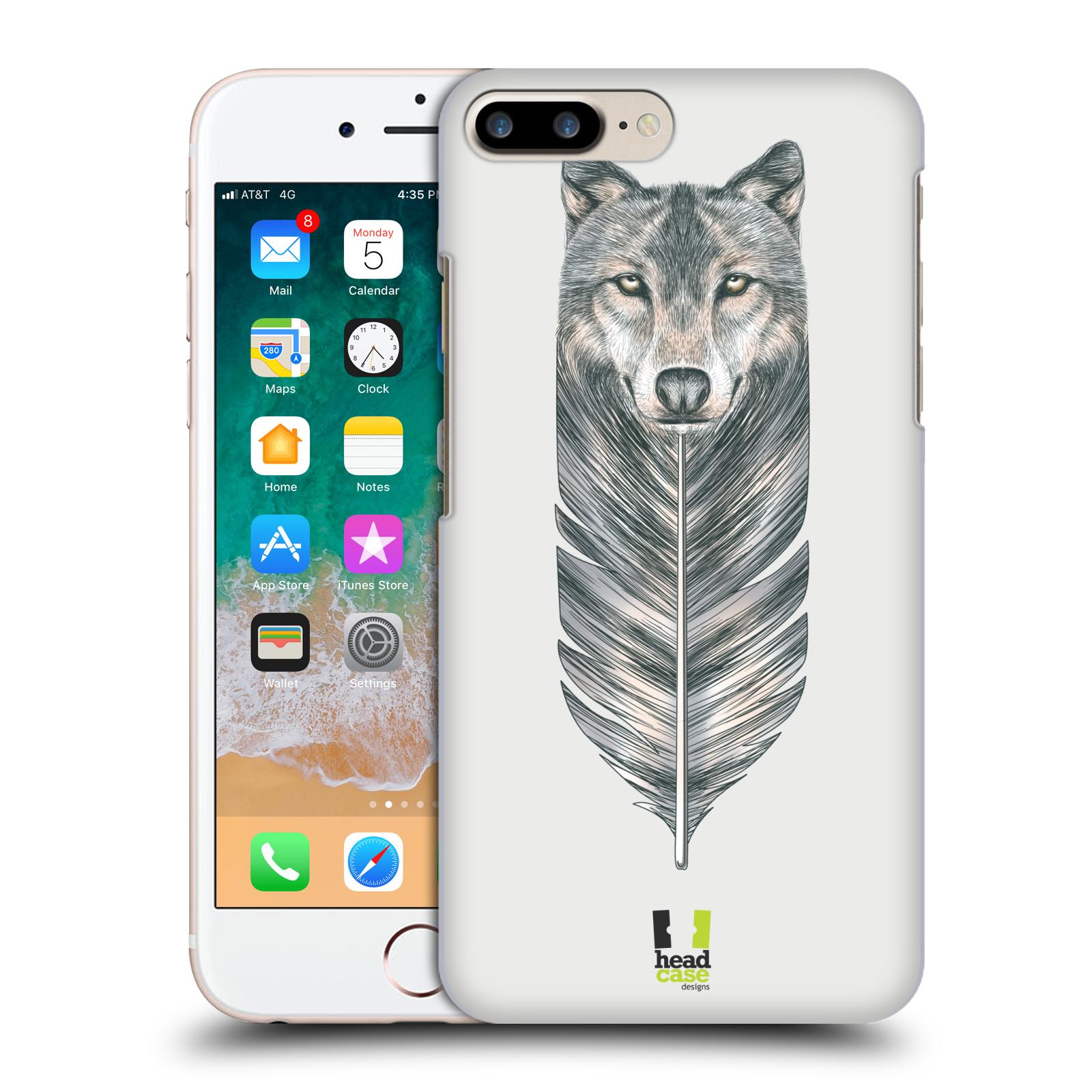 HEAD CASE plastový obal na mobil Apple Iphone 7 PLUS vzor zvířecí pírka vlk