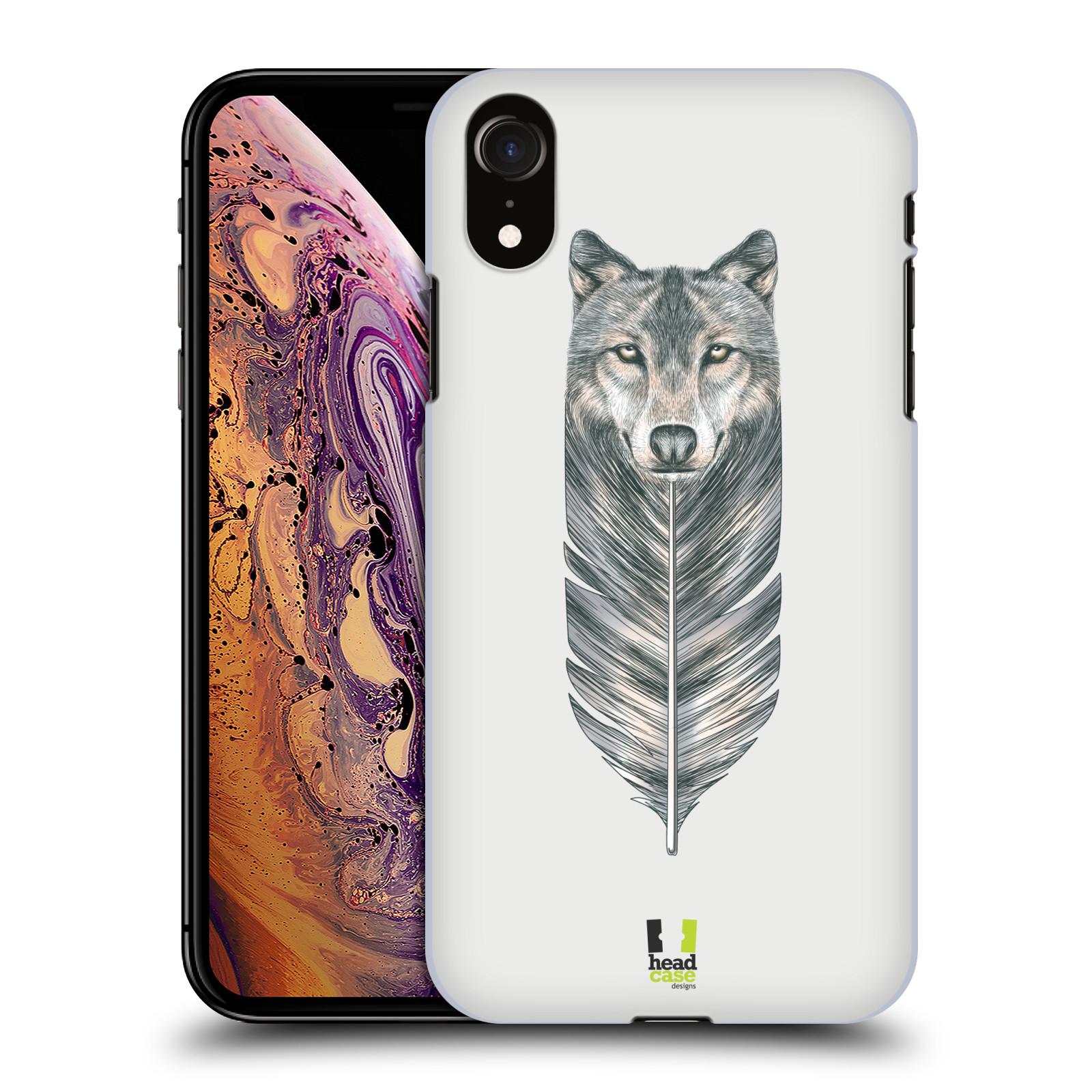 HEAD CASE plastový obal na mobil Apple Iphone XR vzor zvířecí pírka vlk