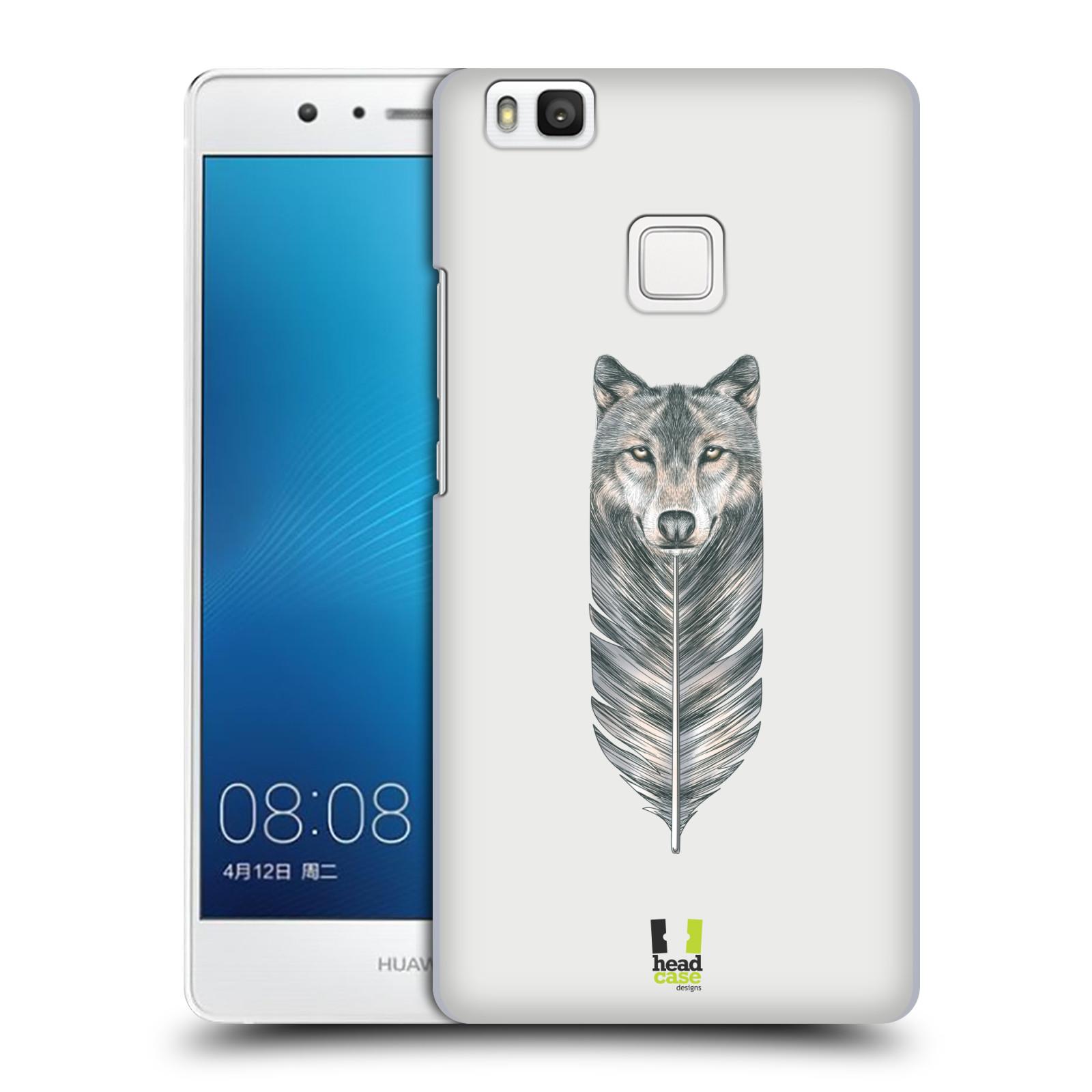 HEAD CASE plastový obal na mobil Huawei P9 LITE / P9 LITE DUAL SIM vzor zvířecí pírka vlk