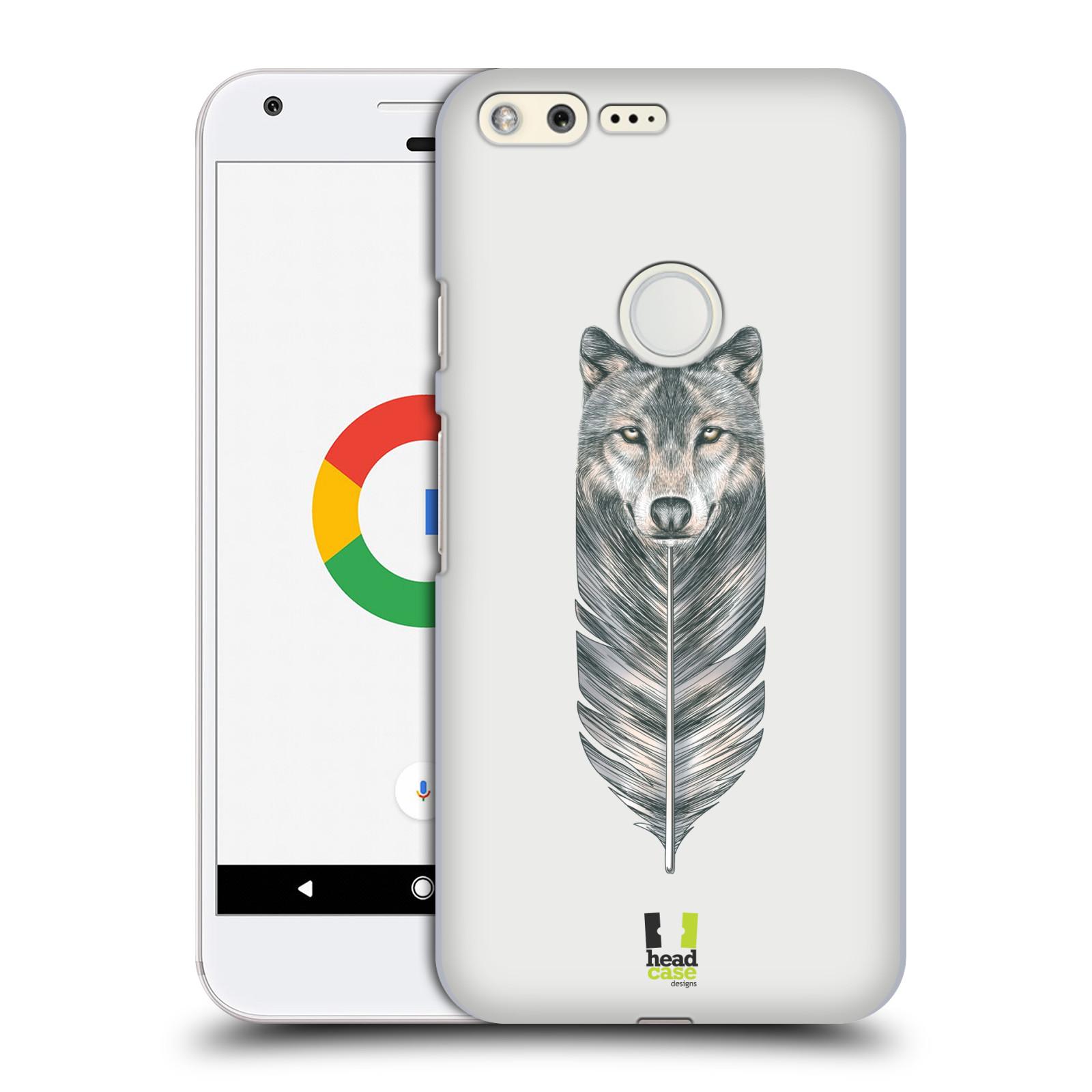 HEAD CASE plastový obal na mobil GOOGLE Pixel vzor zvířecí pírka vlk