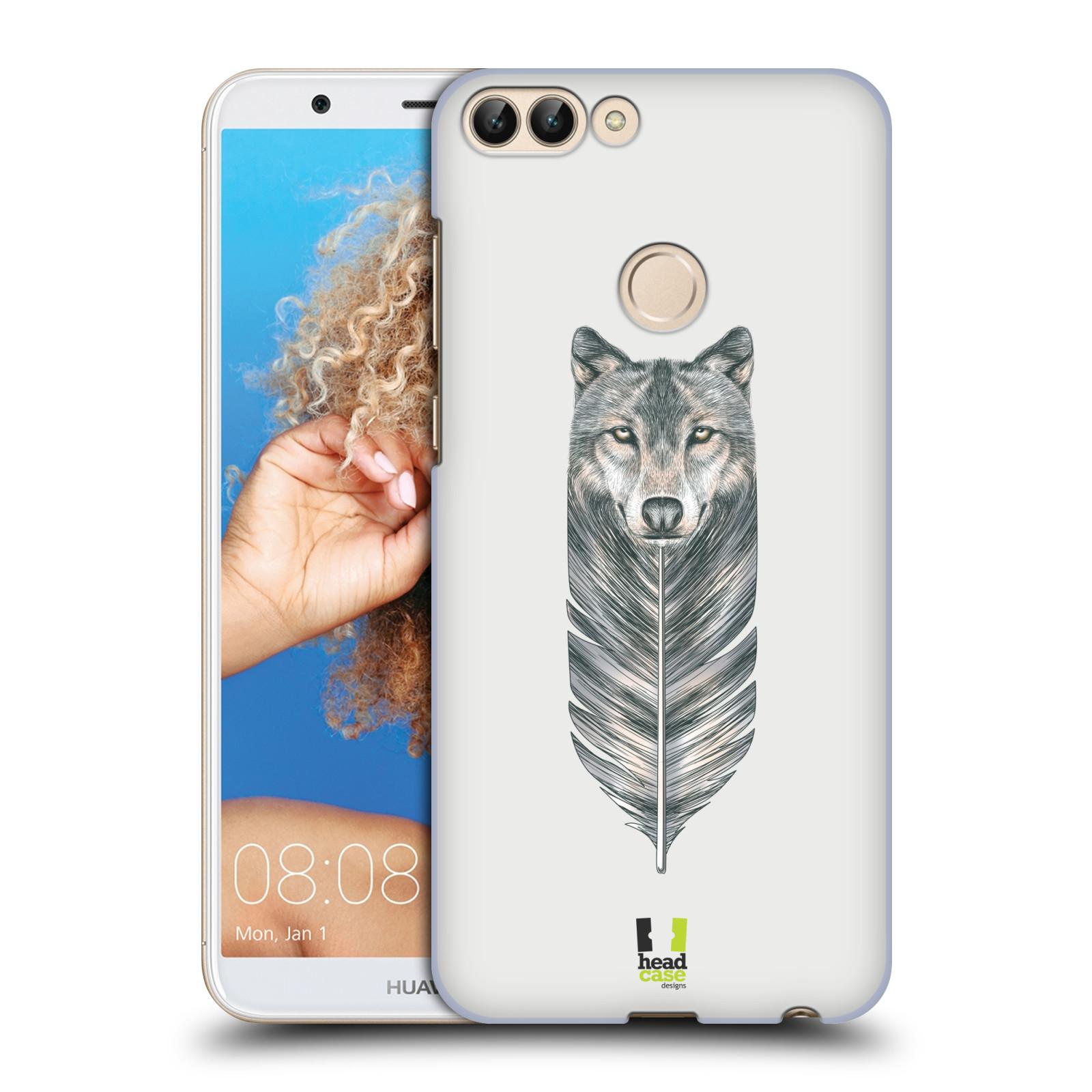 HEAD CASE plastový obal na mobil Huawei P Smart vzor zvířecí pírka vlk