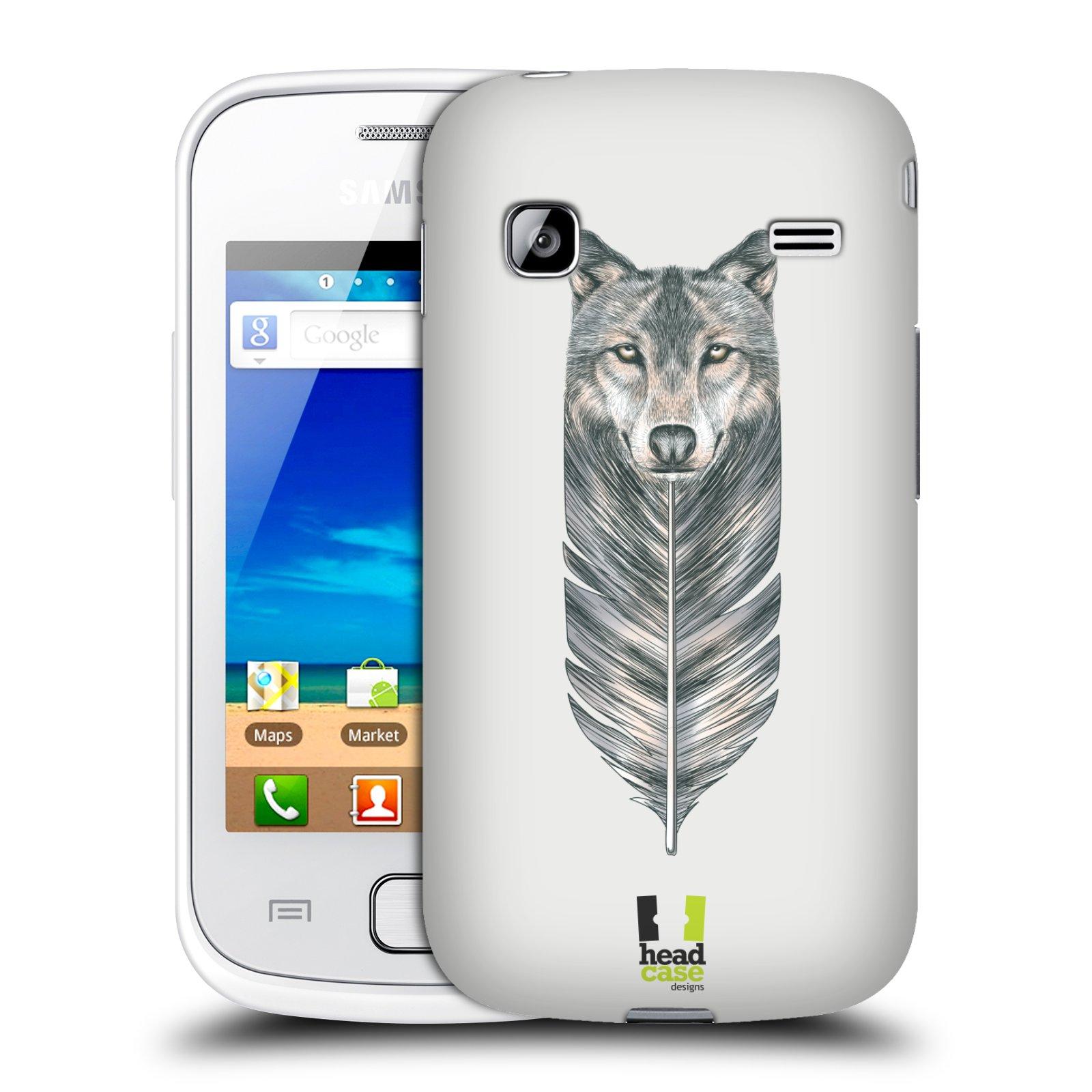 HEAD CASE plastový obal na mobil SAMSUNG GALAXY GIO (S5660) vzor zvířecí pírka vlk