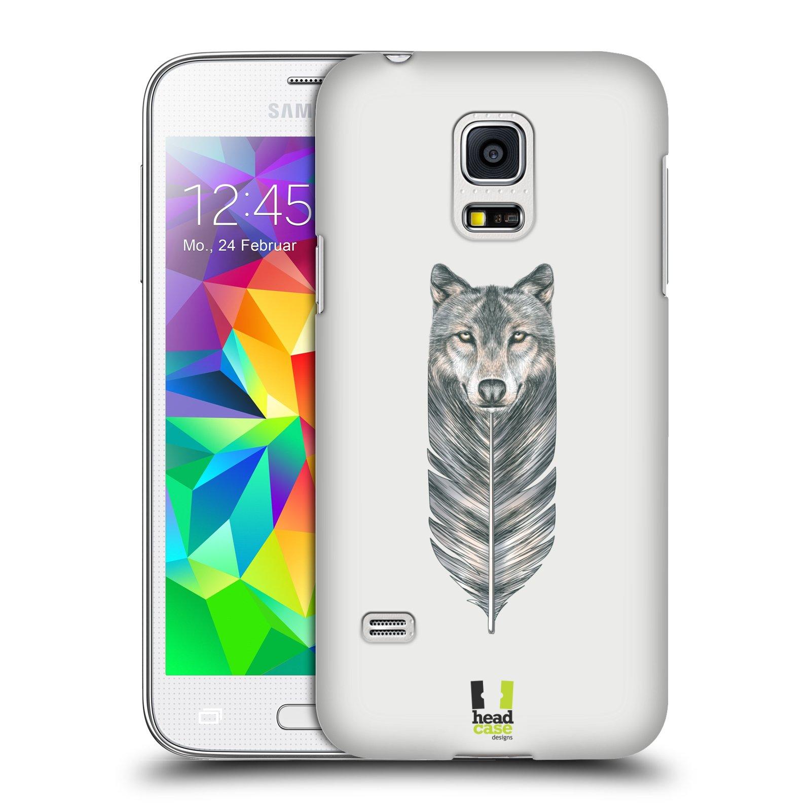 HEAD CASE plastový obal na mobil SAMSUNG Galaxy S5 MINI / S5 MINI DUOS vzor zvířecí pírka vlk