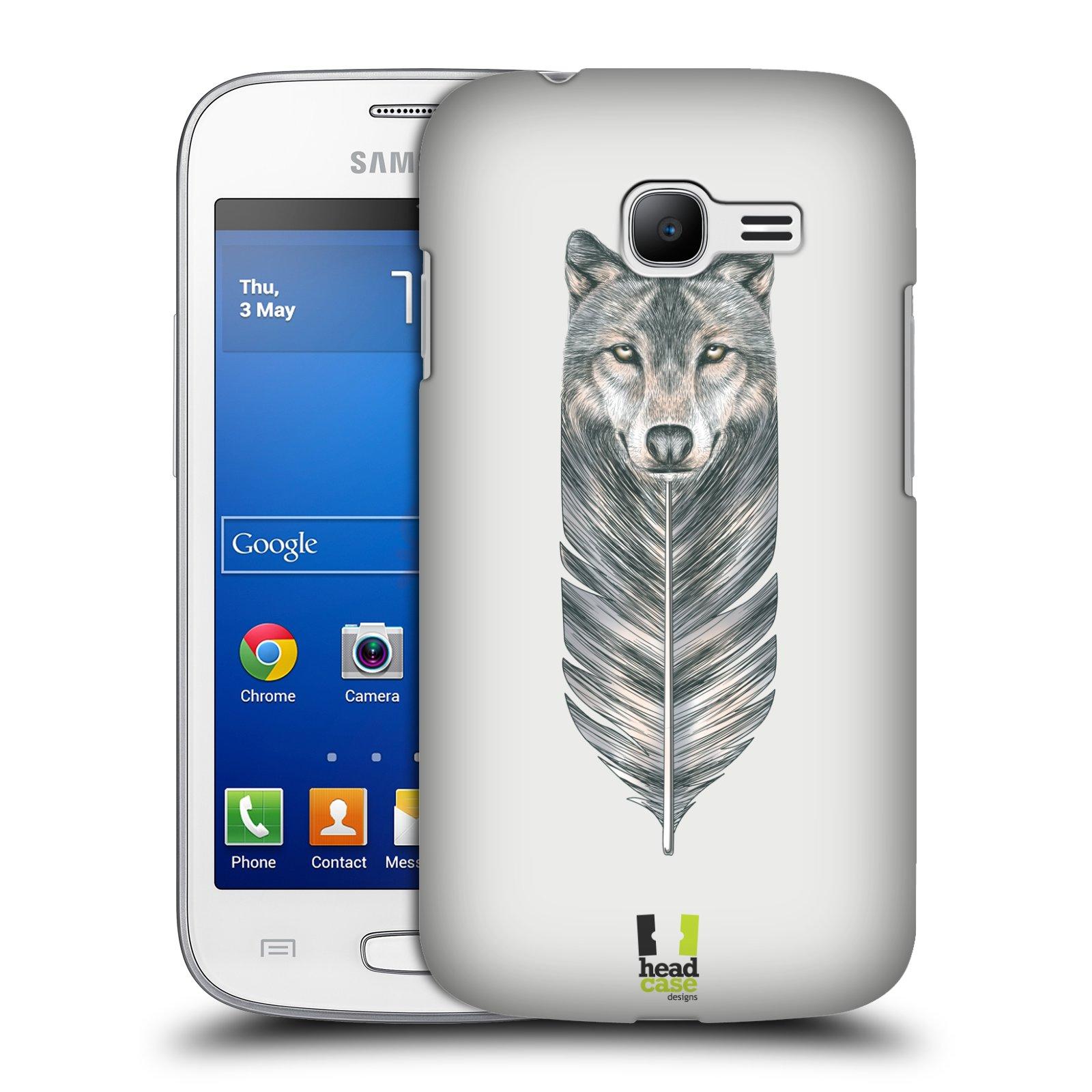 HEAD CASE plastový obal na mobil SAMSUNG GALAXY Star Pro S7260/S7262 DUOS vzor zvířecí pírka vlk
