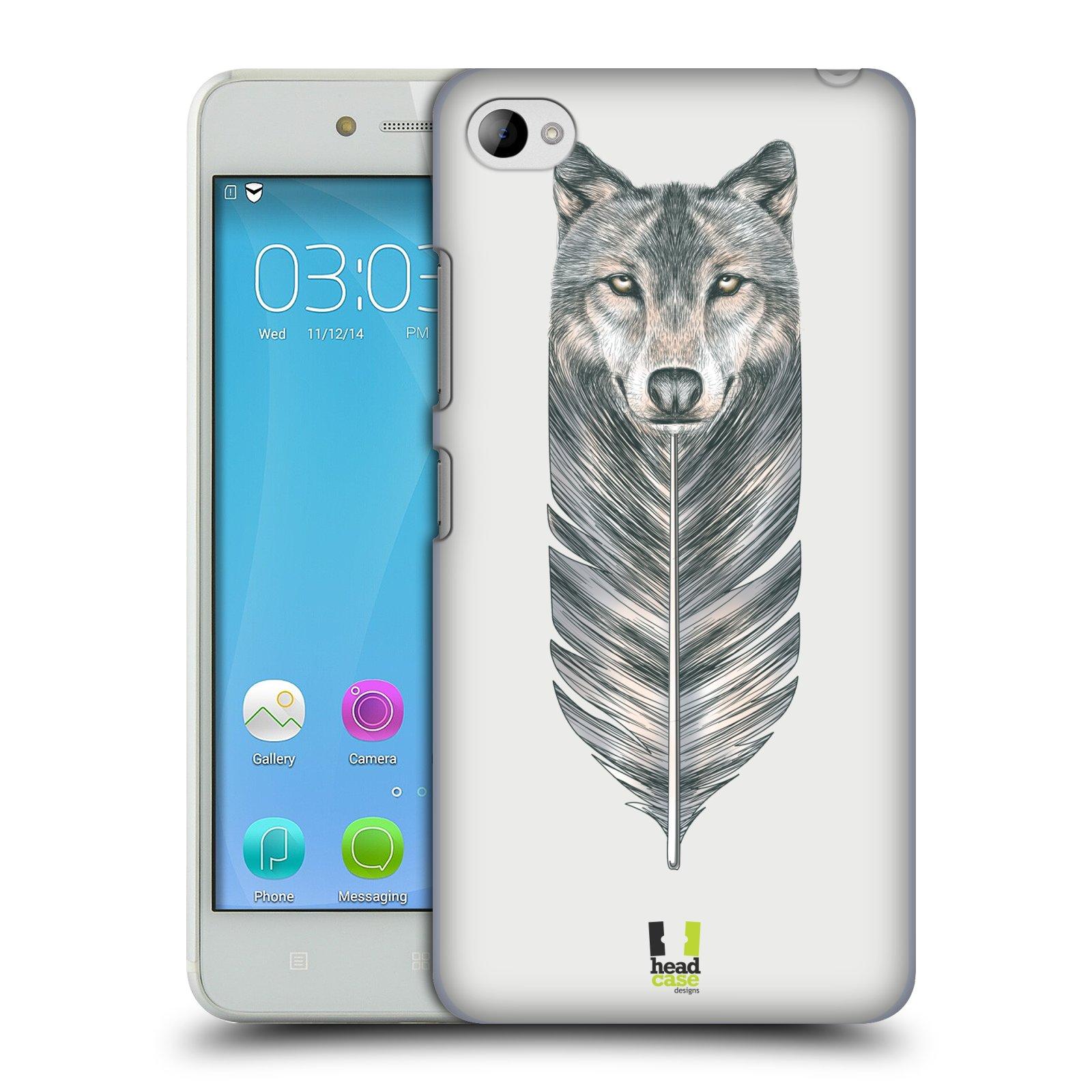 HEAD CASE pevný plastový obal na mobil LENOVO S90 vzor zvířecí pírka vlk