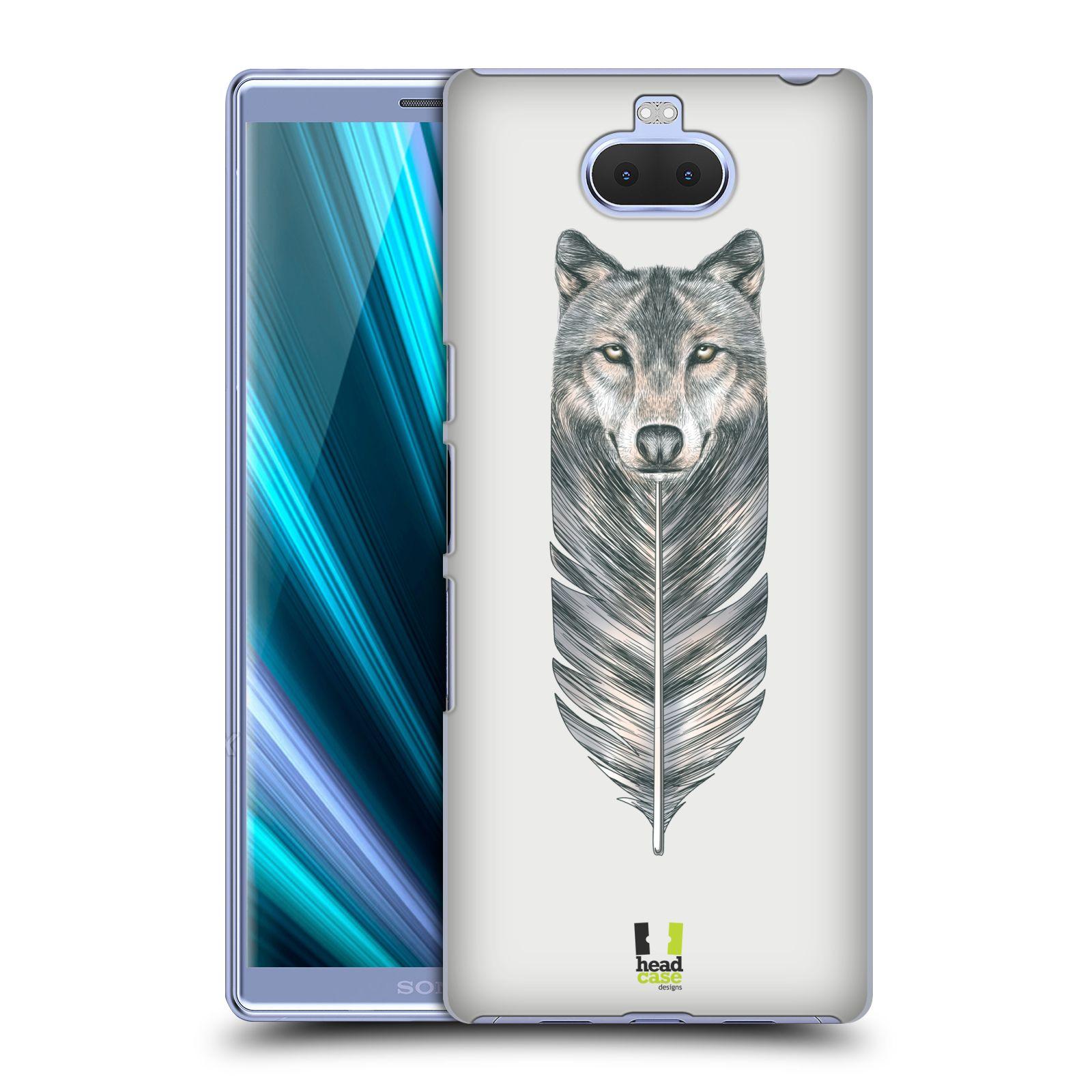 Pouzdro na mobil Sony Xperia 10 - Head Case - vzor zvířecí pírka vlk