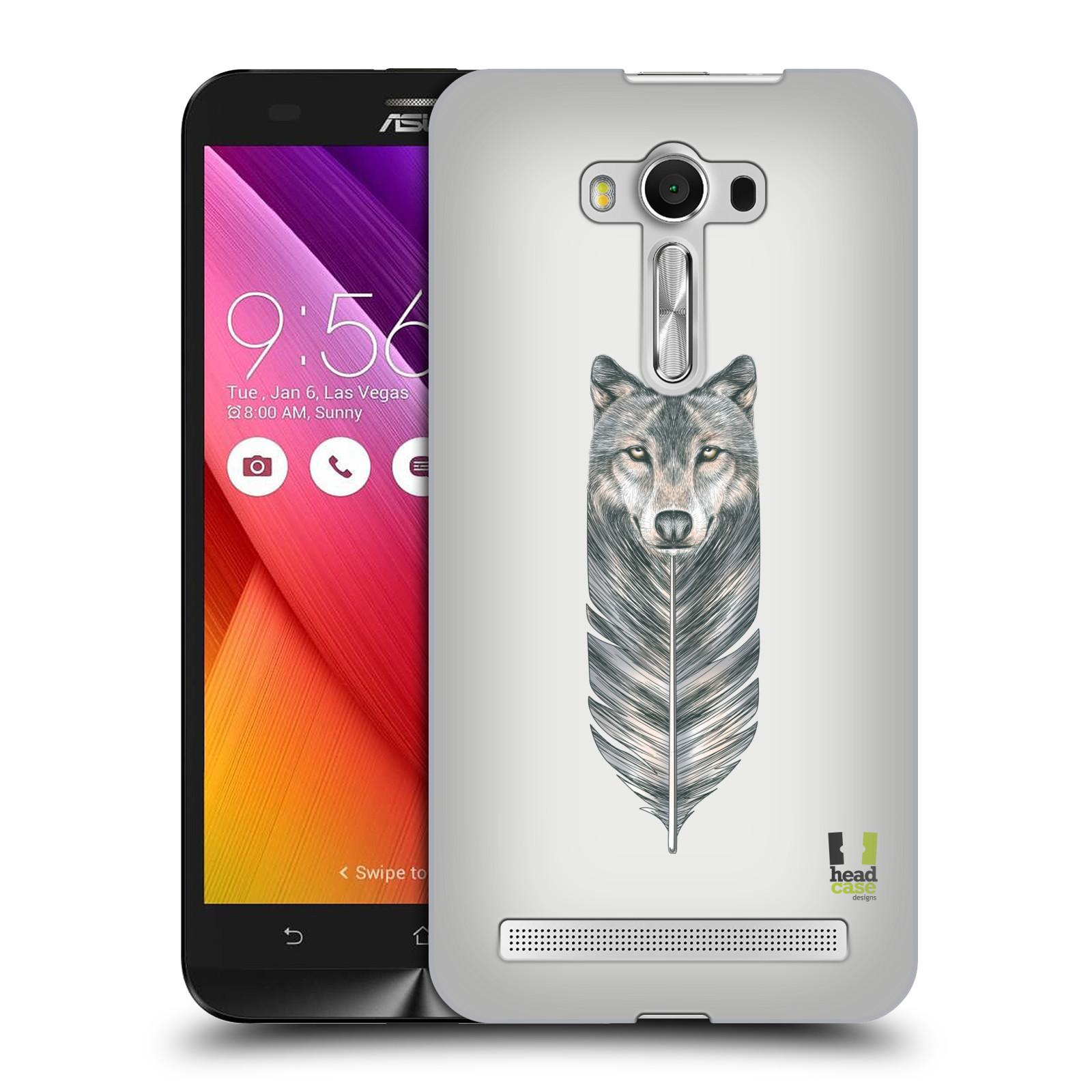 HEAD CASE plastový obal na mobil Asus Zenfone 2 LASER (5,5 displej ZE550KL) vzor zvířecí pírka vlk