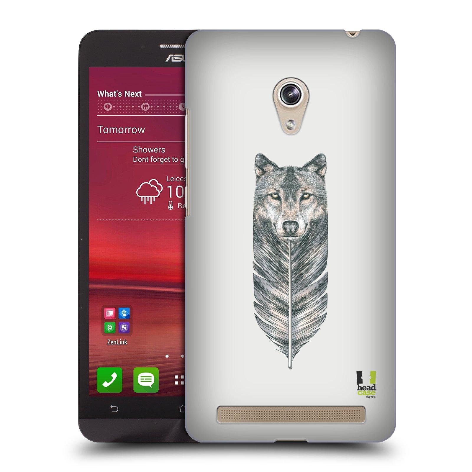 HEAD CASE plastový obal na mobil Asus Zenfone 6 vzor zvířecí pírka vlk