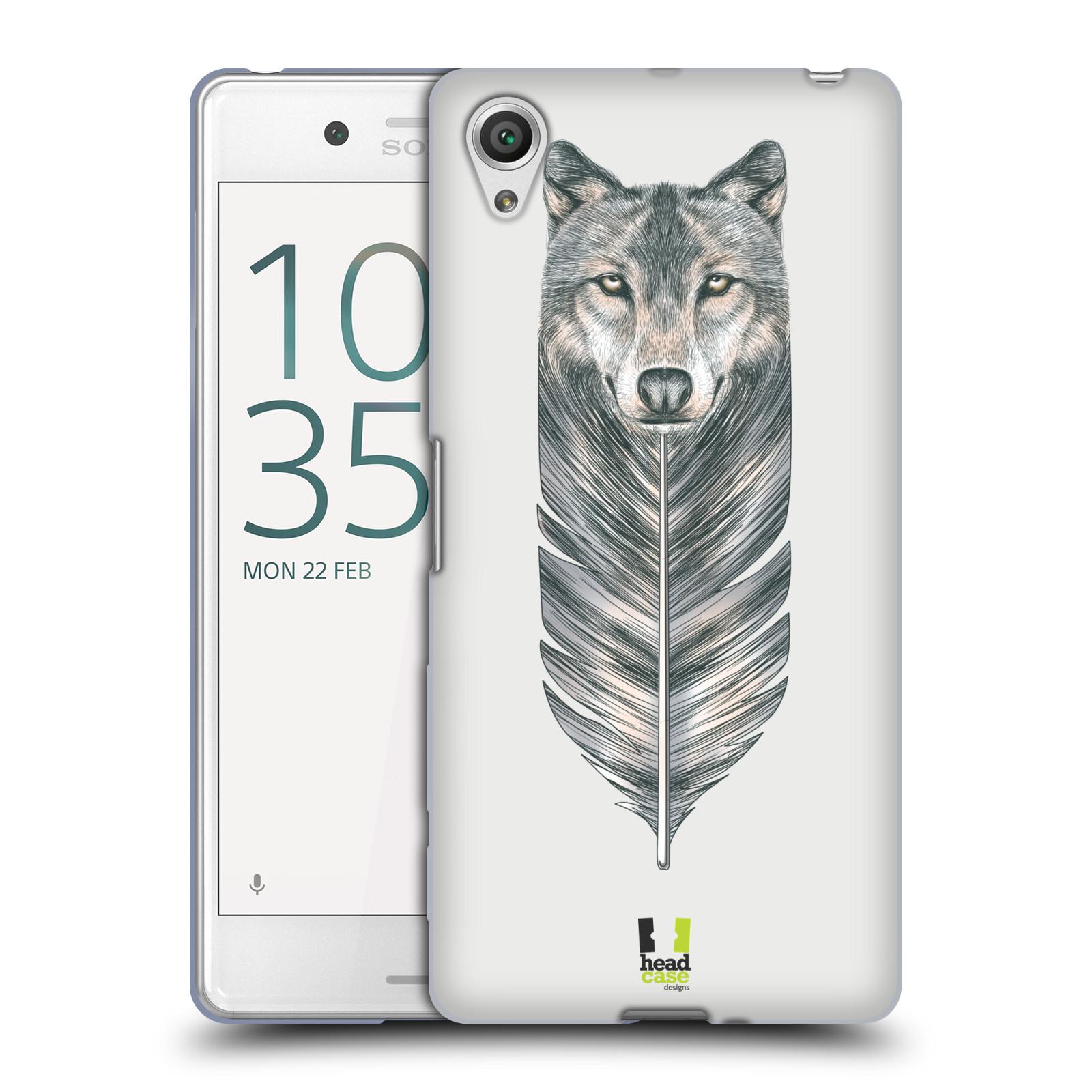 HEAD CASE silikonový obal na mobil Sony Xperia X PERFORMANCE (F8131, F8132) vzor zvířecí pírka vlk