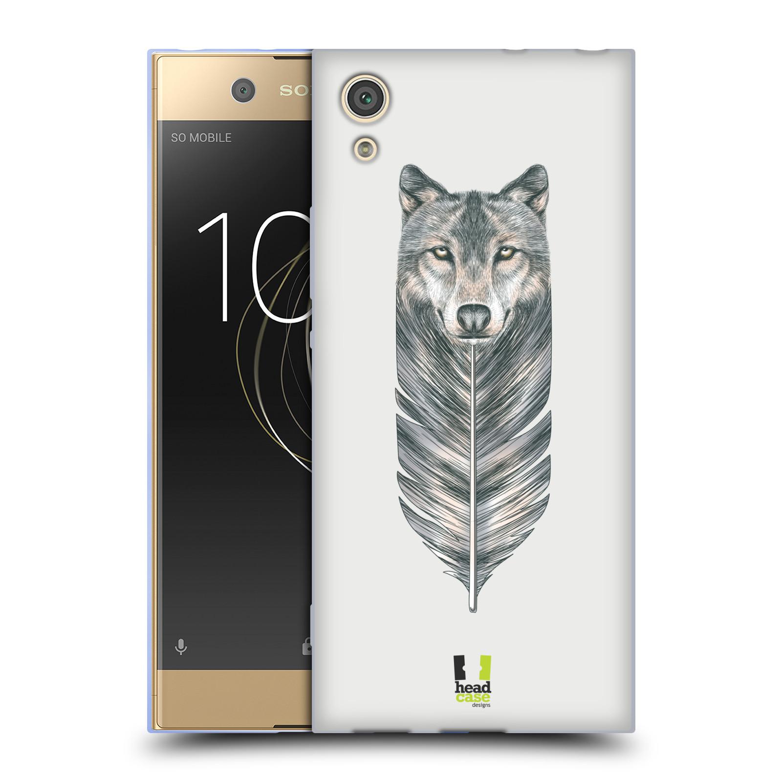 HEAD CASE silikonový obal na mobil Sony Xperia XA1 / XA1 DUAL SIM vzor zvířecí pírka vlk