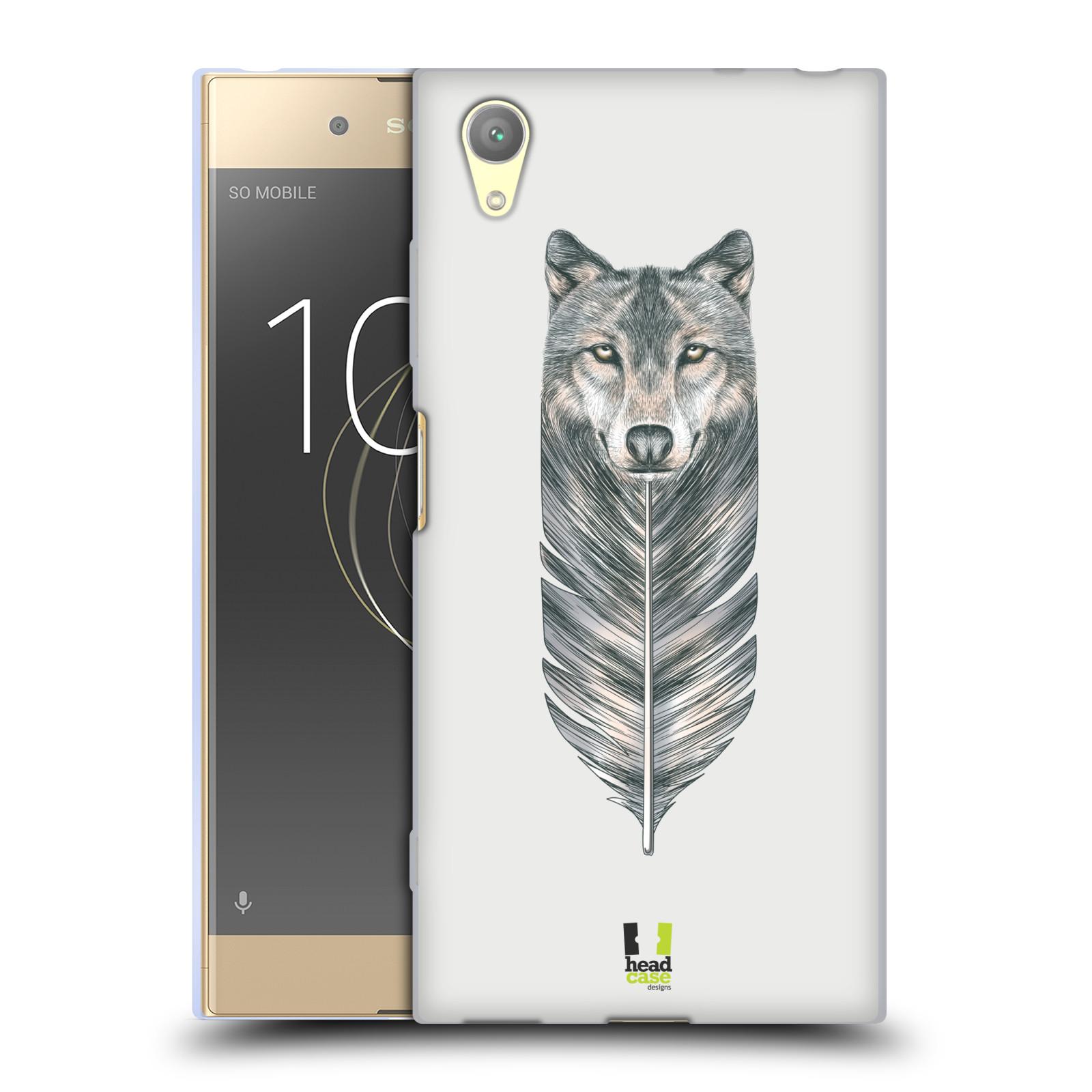 HEAD CASE silikonový obal na mobil Sony Xperia XA1 PLUS vzor zvířecí pírka vlk
