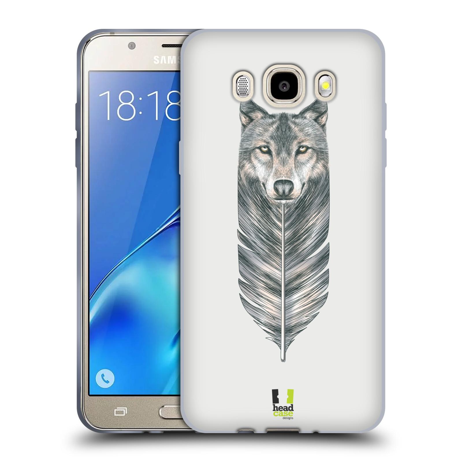HEAD CASE silikonový obal, kryt na mobil Samsung Galaxy J5 2016, J510, J510F, (J510F DUAL SIM) vzor zvířecí pírka vlk