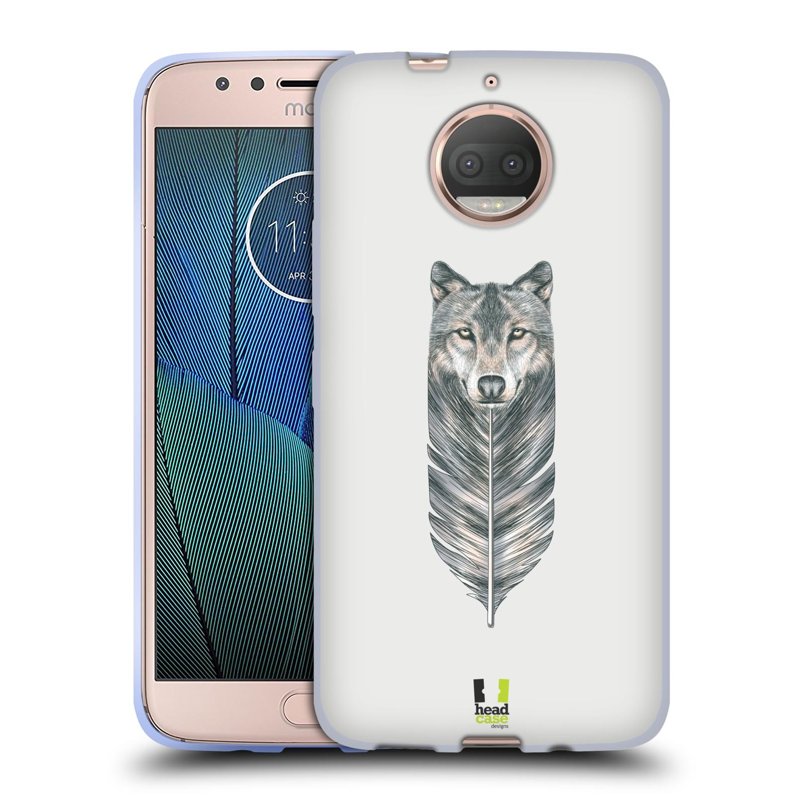 HEAD CASE silikonový obal na mobil Lenovo Moto G5s PLUS vzor zvířecí pírka vlk