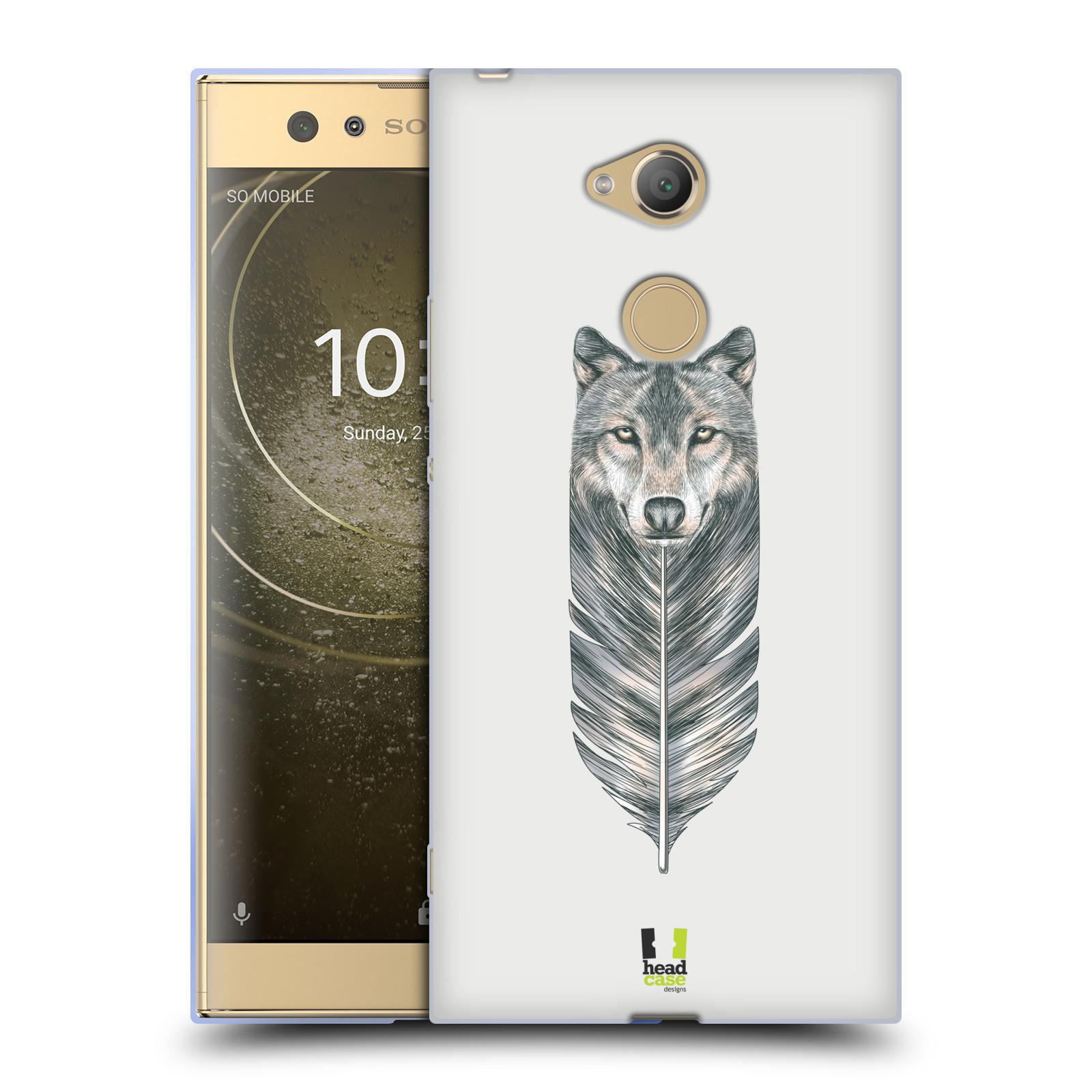 Pouzdro na mobil Sony Xperia XA2 Ultra vzor zvířecí pírka vlk