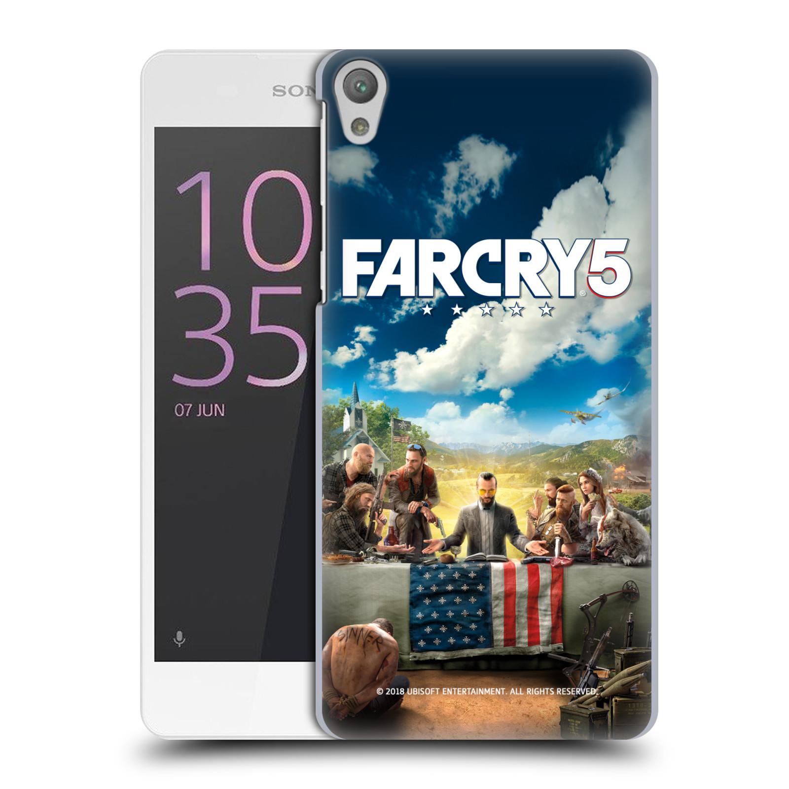 Pouzdro na mobil Sony Xperia E5 - HEAD CASE - Far Cry 5 poslední večeře