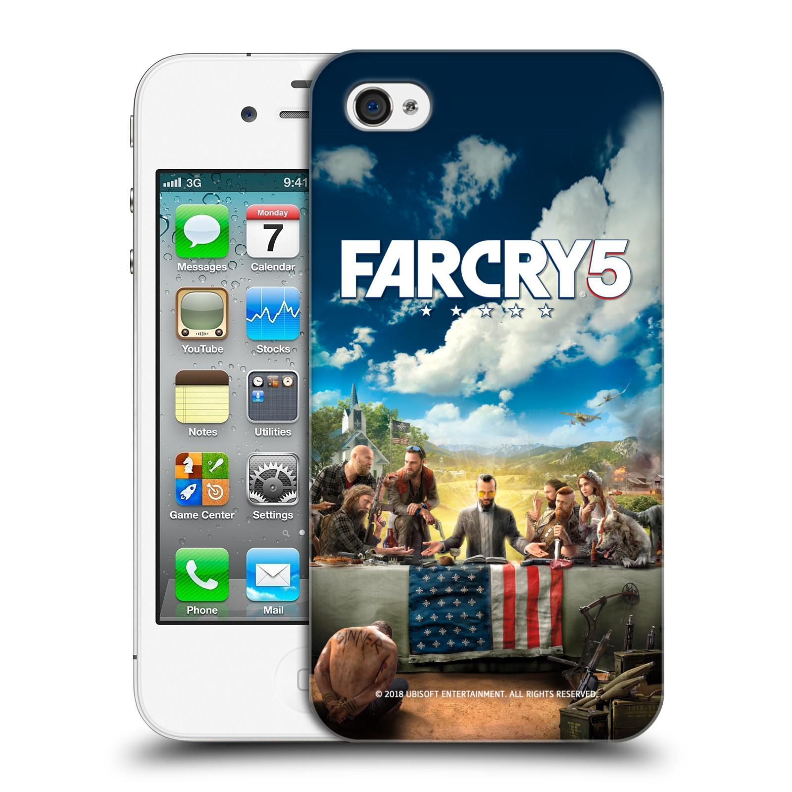 Pouzdro na mobil Apple Iphone 4/4S - HEAD CASE - Far Cry 5 poslední večeře