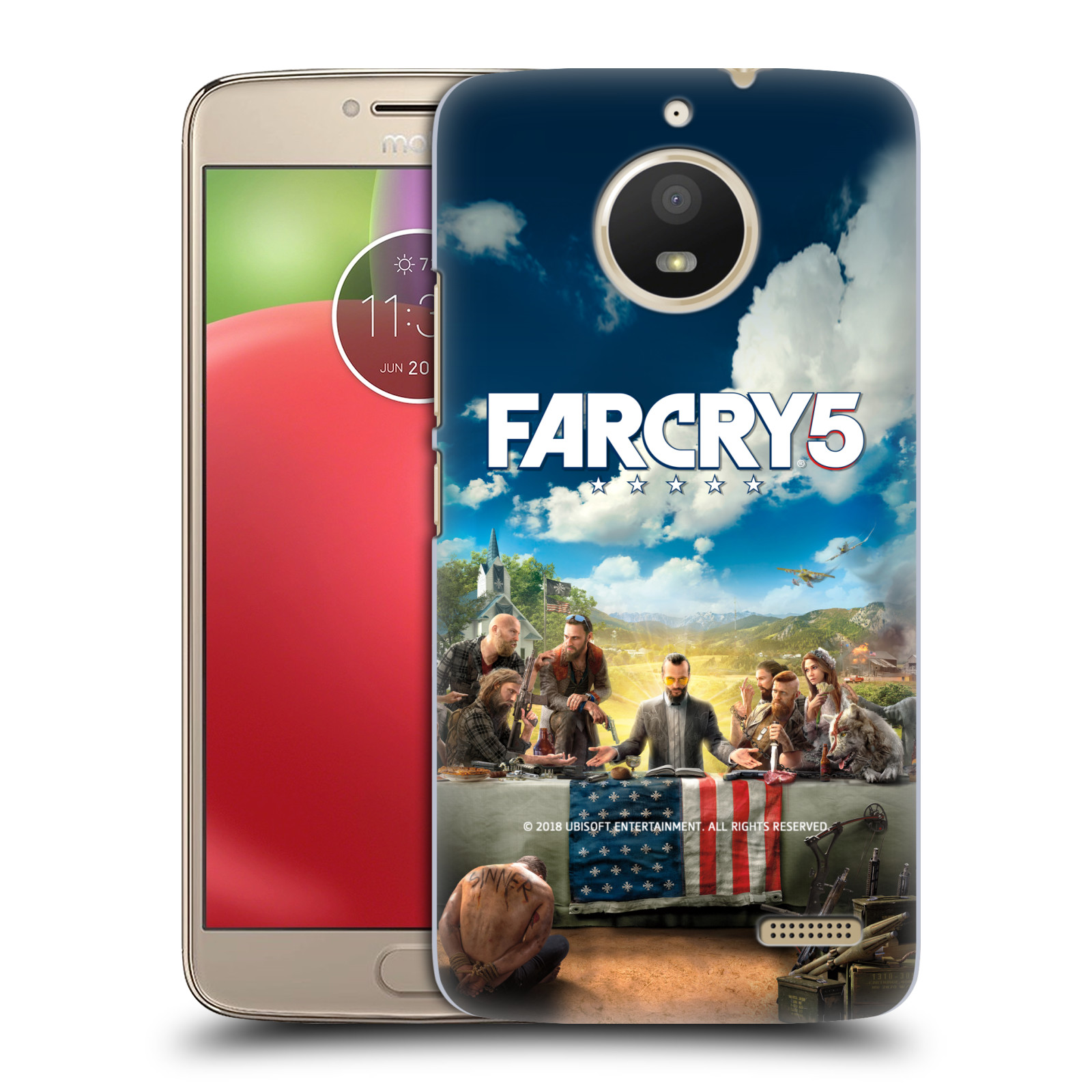 Pouzdro na mobil Lenovo Moto E4 - HEAD CASE - Far Cry 5 poslední večeře