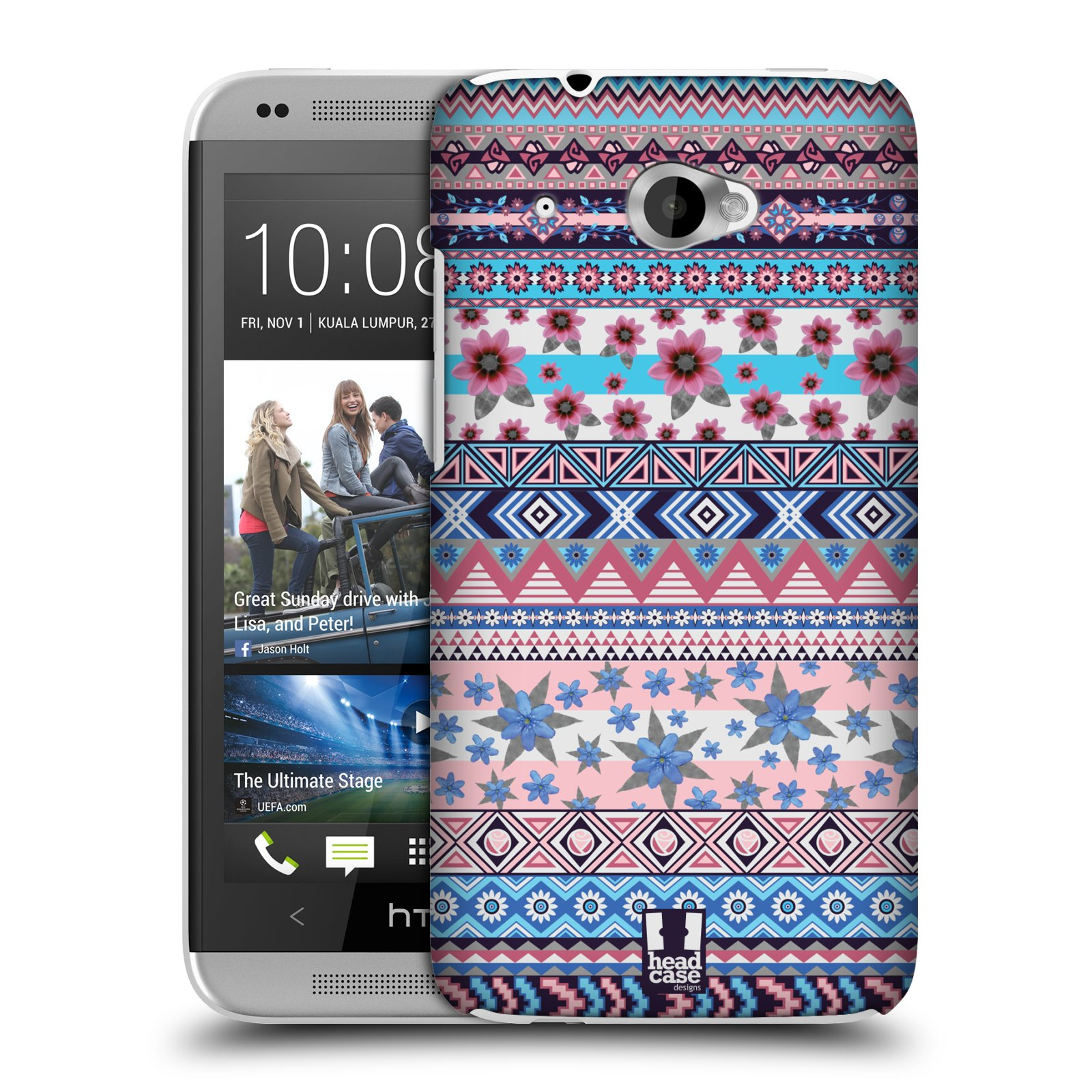 HEAD CASE DESIGNS FLORAL AZTEC CASE COVER FOR HTC DESIRE 601 DUAL SIM