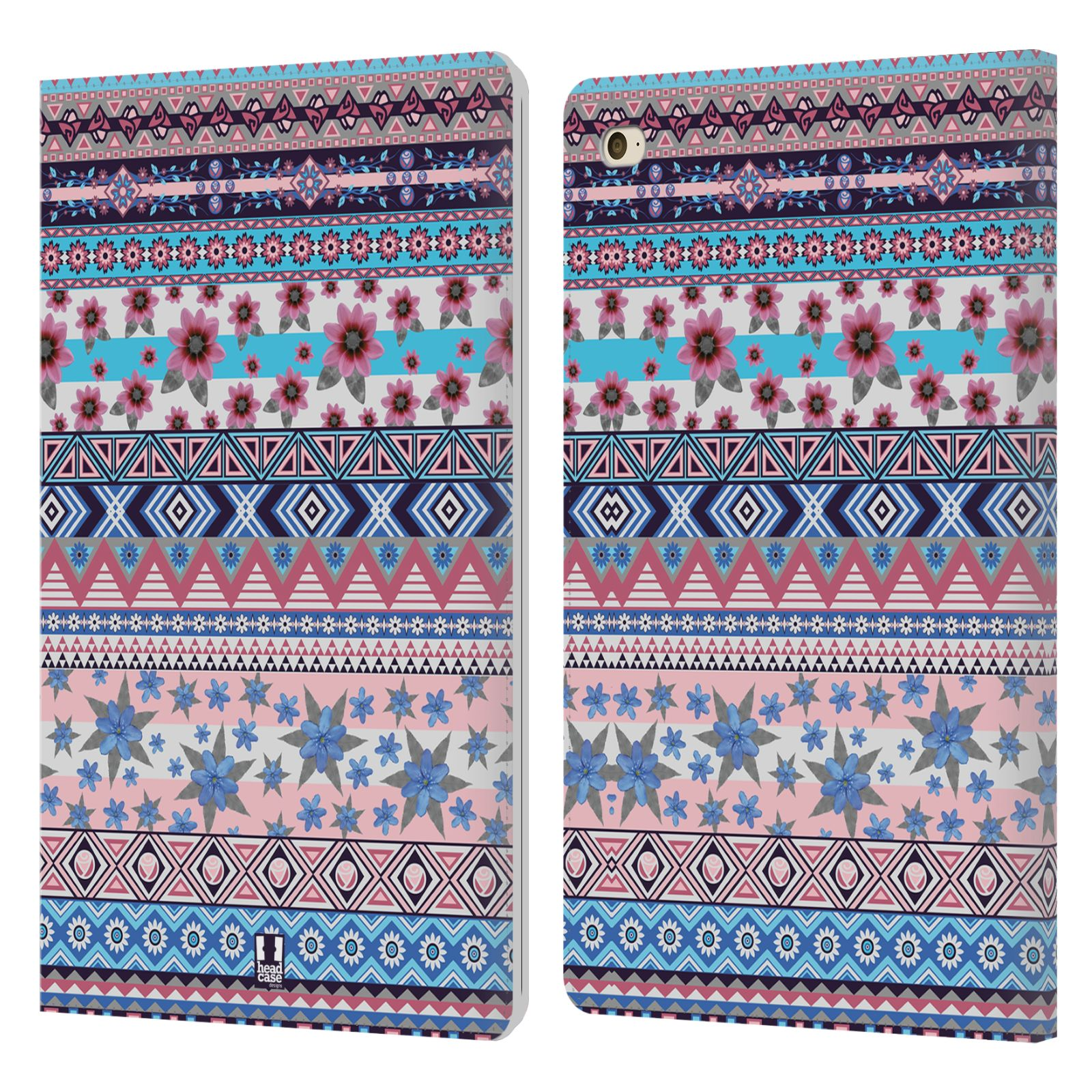 HEAD-CASE-DESIGNS-FLORAL-AZTECA-FUNDA-DE-LIBRO-CUERO-PARA-APPLE-iPAD-MINI-4