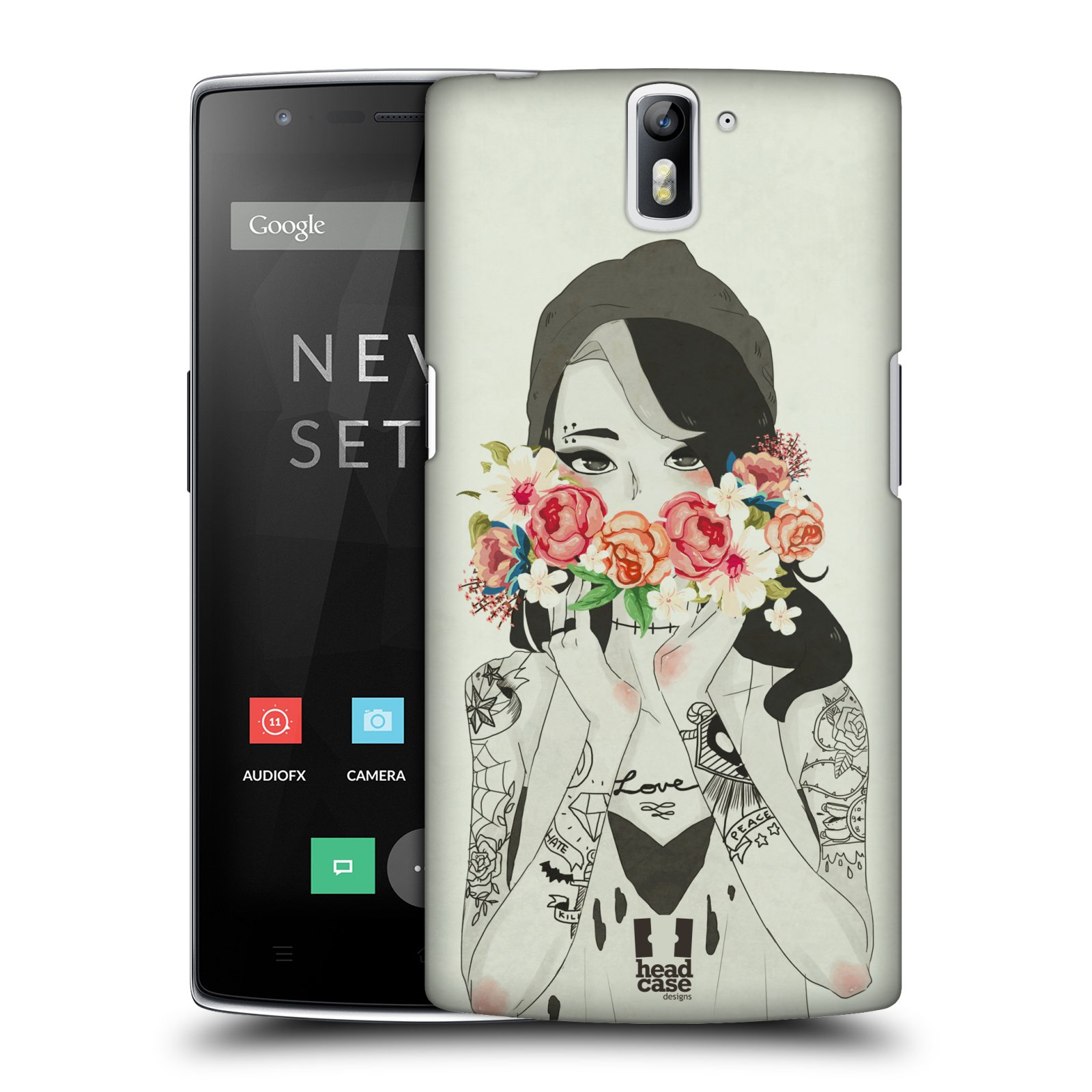 HEAD CASE DESIGNS FLORAL BEAUTIES HARD BACK CASE FOR ONEPLUS ONE