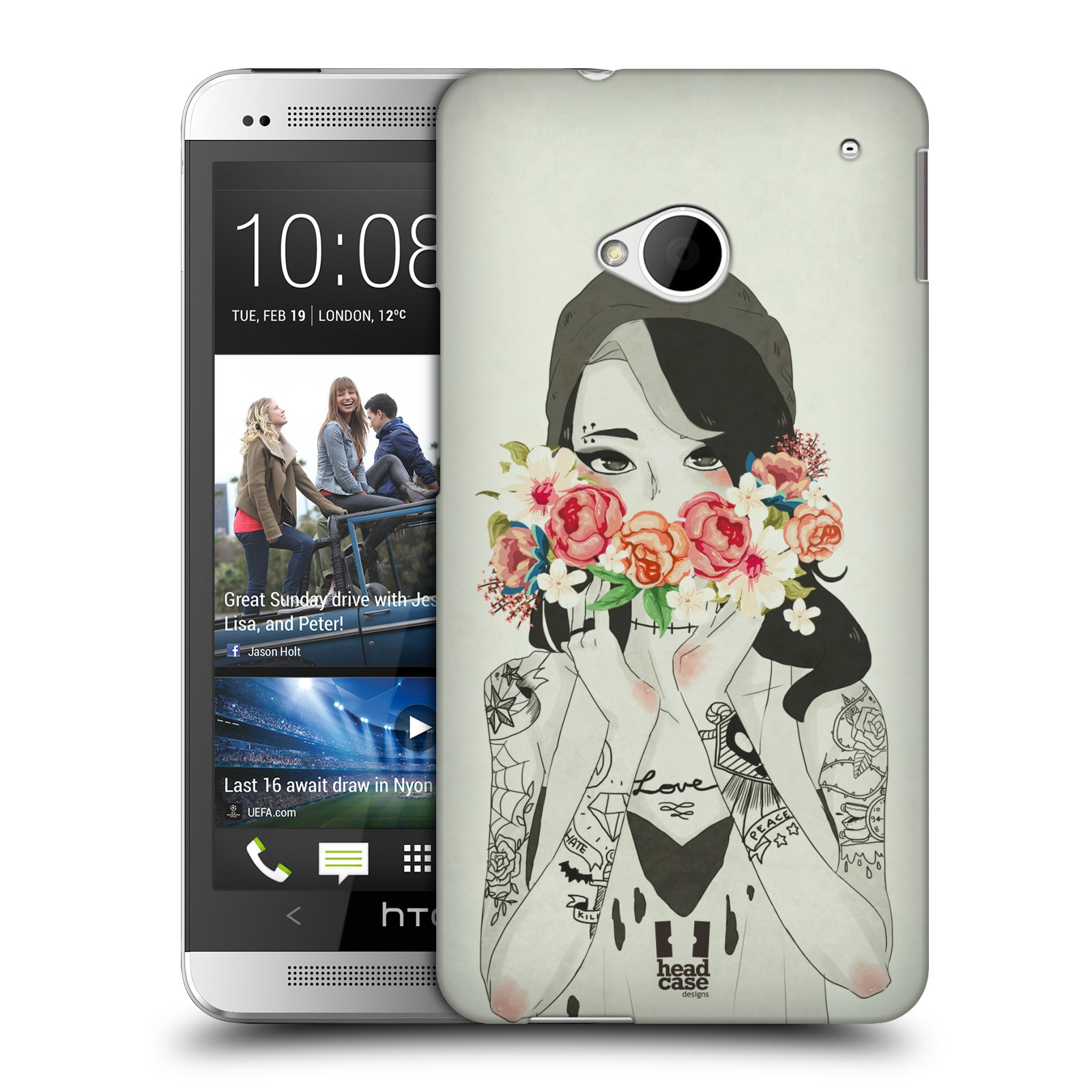 HEAD CASE DESIGNS FLORAL BEAUTIES HARD BACK CASE FOR HTC ONE
