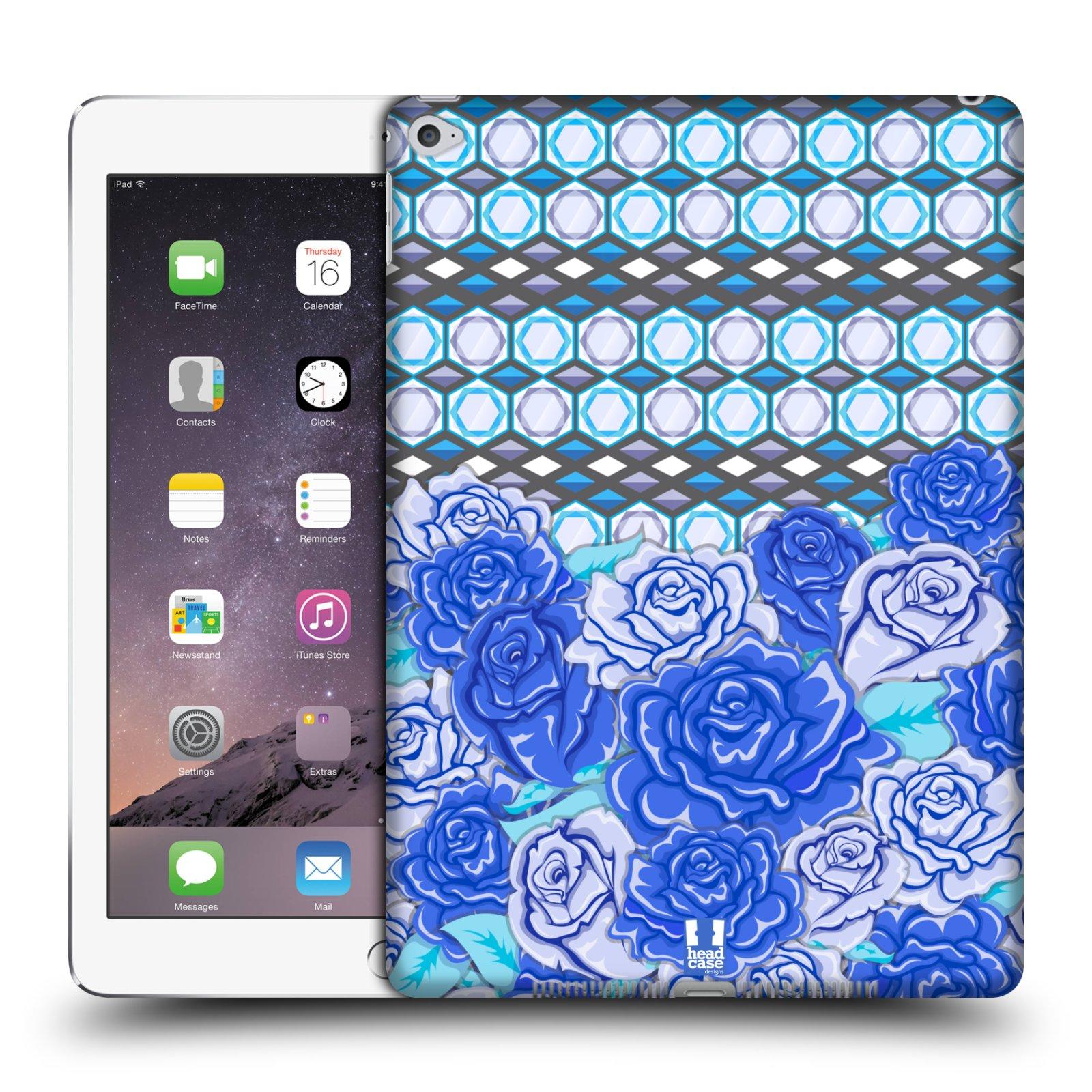 head case designs floral blue hard back case for apple ipad. Black Bedroom Furniture Sets. Home Design Ideas
