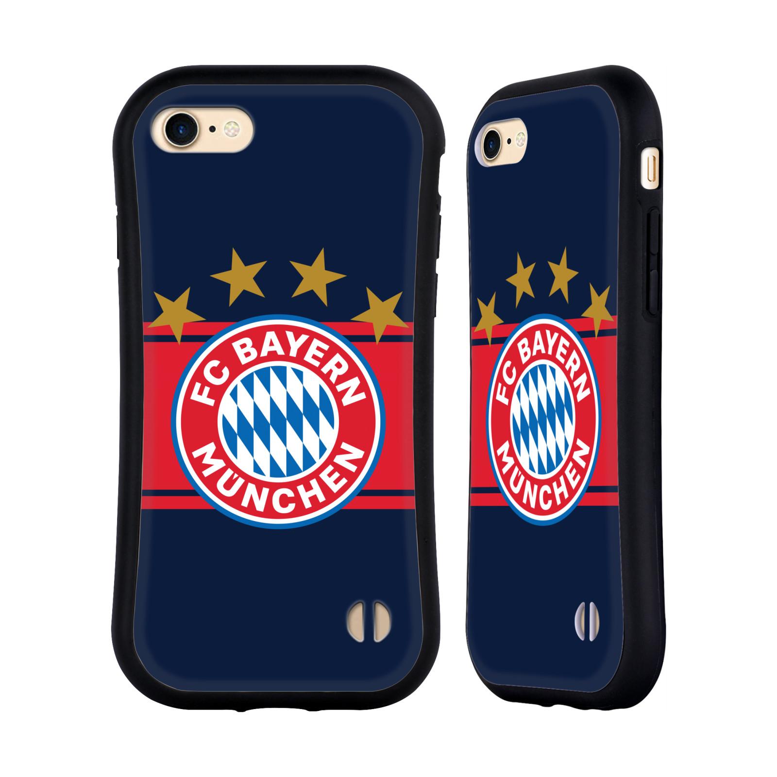 HEAD CASE odolný obal na mobil Apple Iphone 8 Fotbalový klub FC Bayern Mnichov znak hvězdy modré pozadí