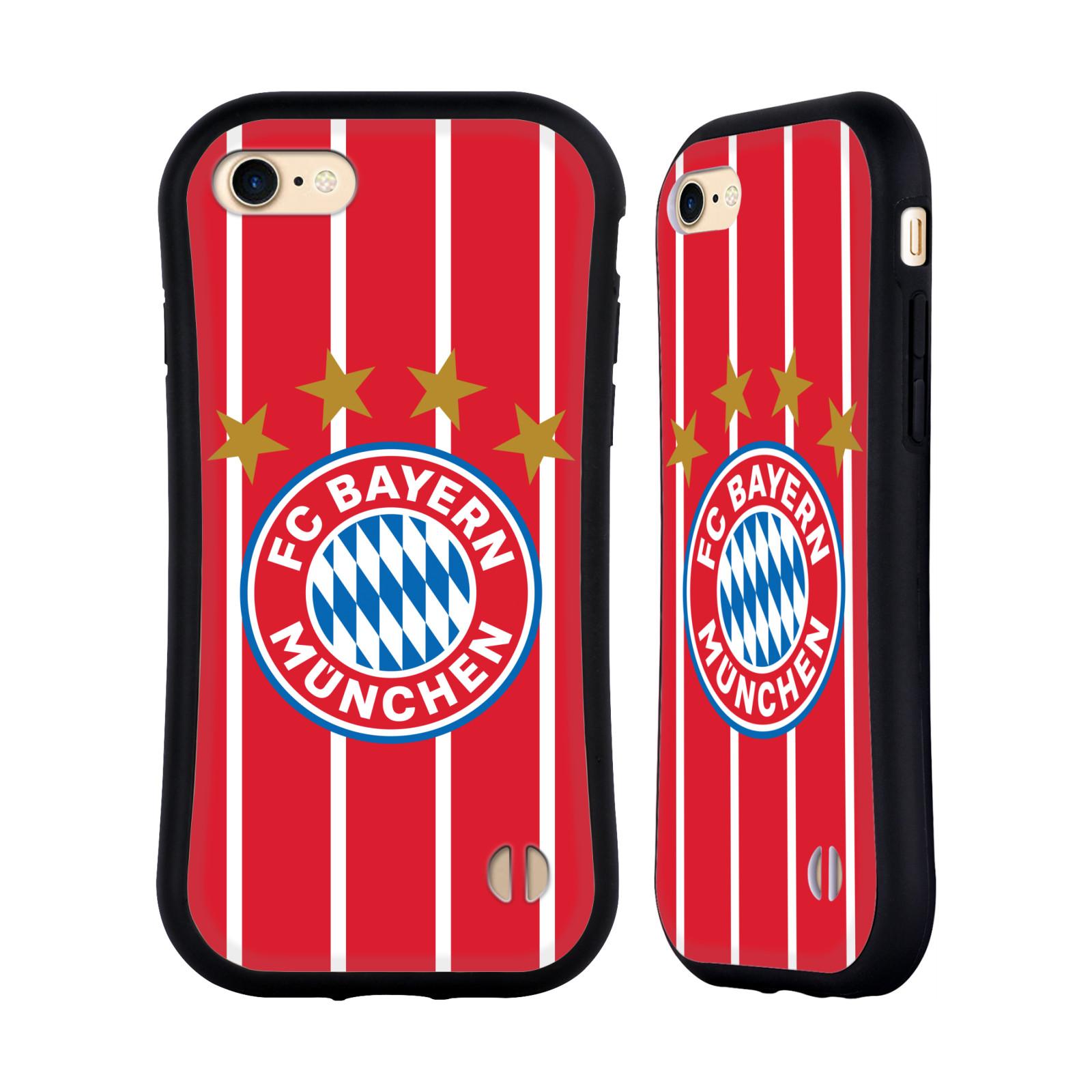 HEAD CASE odolný obal na mobil Apple Iphone 8 Fotbalový klub FC Bayern Mnichov znak hvězdy červené a bílé pruhy