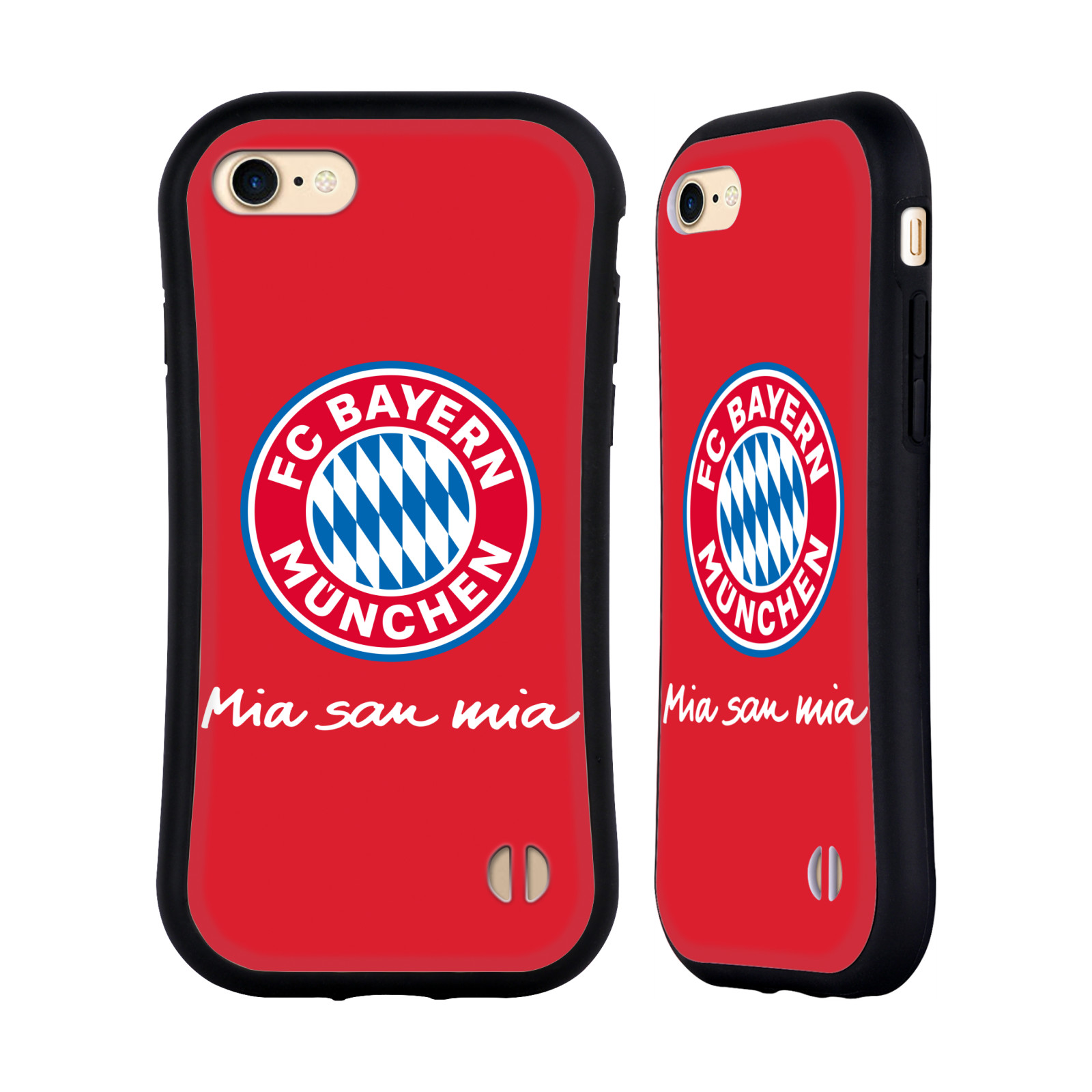 HEAD CASE odolný obal na mobil Apple Iphone 8 Fotbalový klub FC Bayern Mnichov velký znak červené pozadí