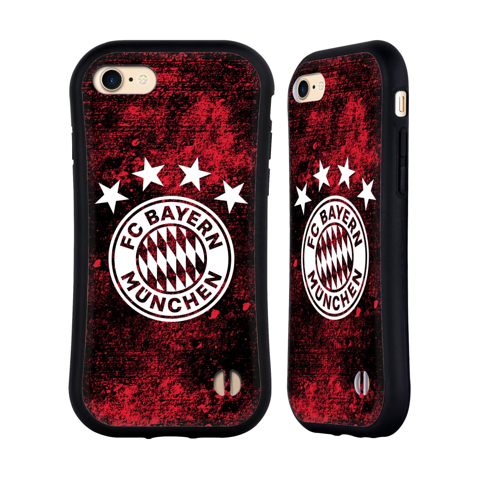 HEAD CASE odolný obal na mobil Apple Iphone 8 Fotbalový klub FC Bayern Mnichov velký znak rudá zeď