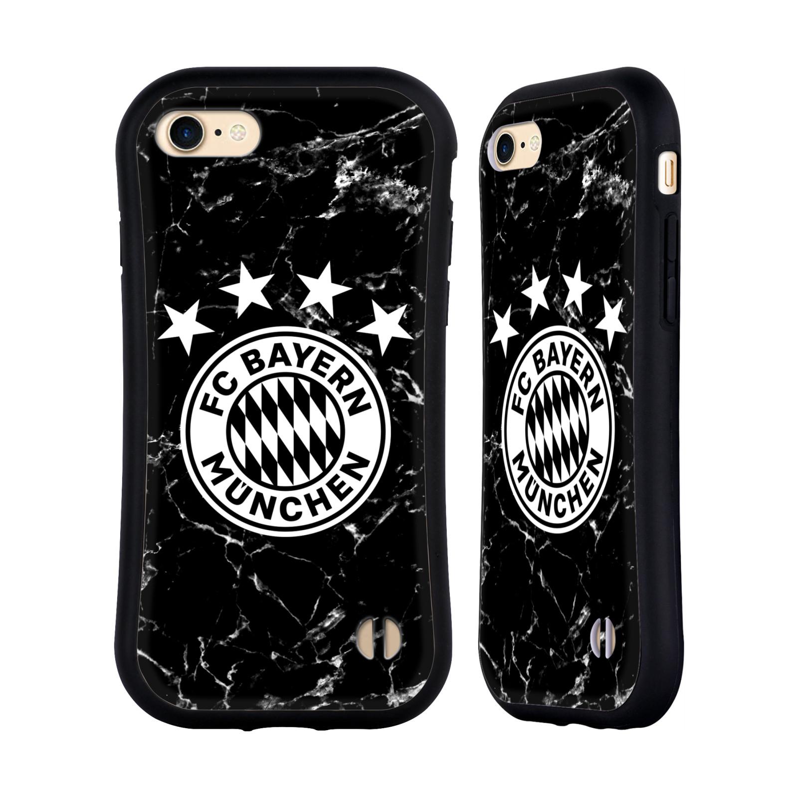 HEAD CASE odolný obal na mobil Apple Iphone 8 Fotbalový klub FC Bayern Mnichov velký znak mramor černobílá