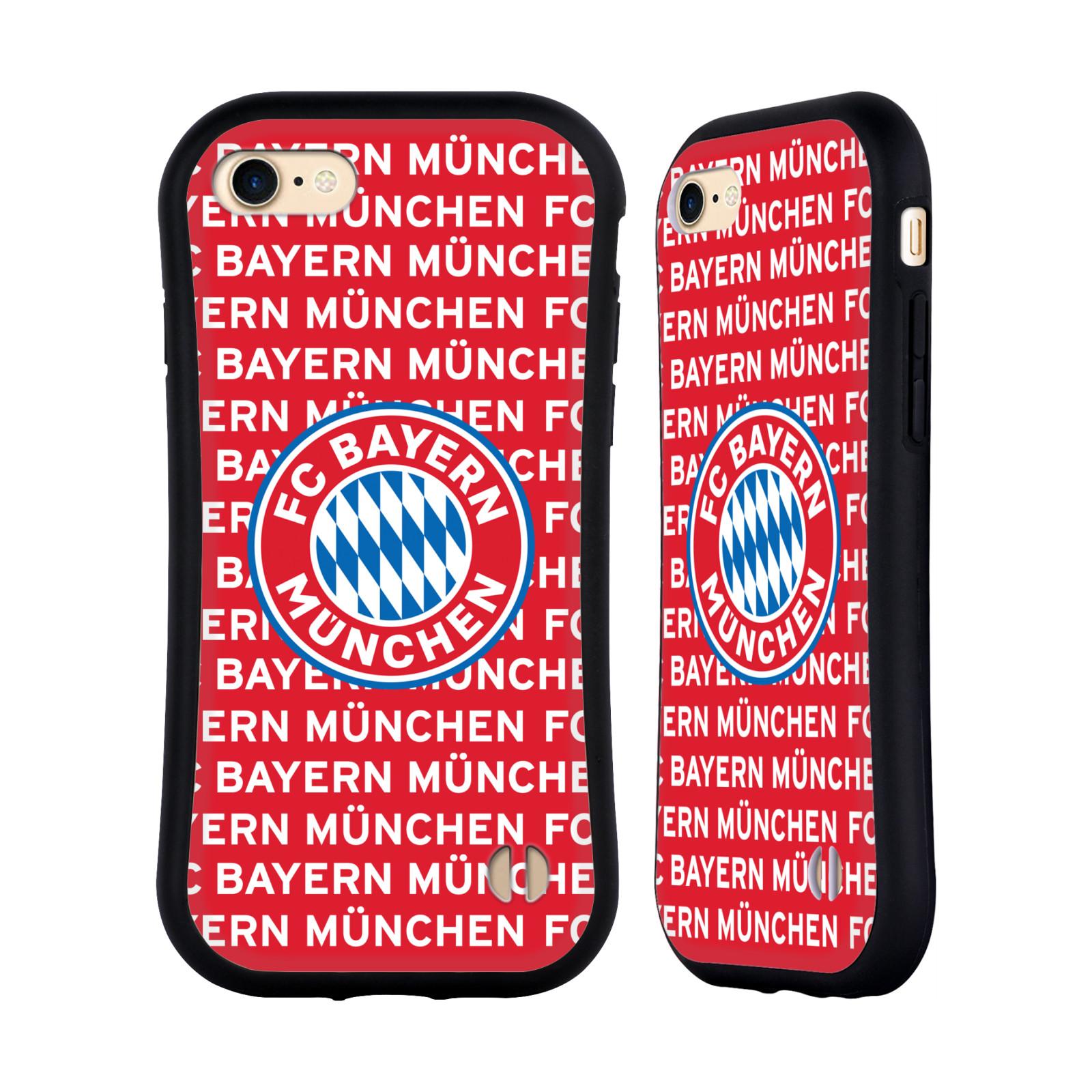 HEAD CASE odolný obal na mobil Apple Iphone 8 Fotbalový klub FC Bayern Mnichov velký znak vzorkované pozadí červené