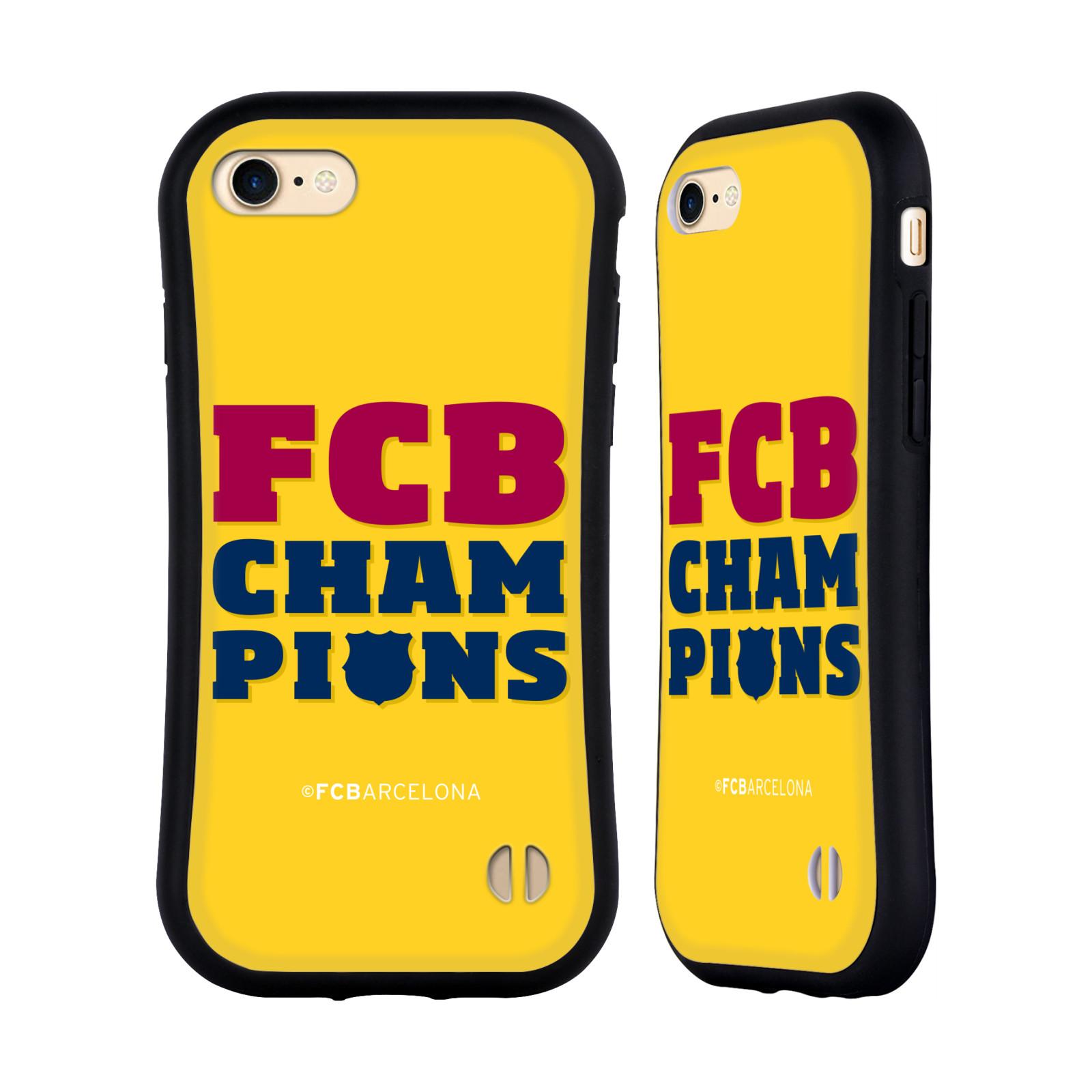 HEAD CASE odolný obal na mobil Apple Iphone 8 Fotbalový klub FC BARCELONA žlutá barva FCB