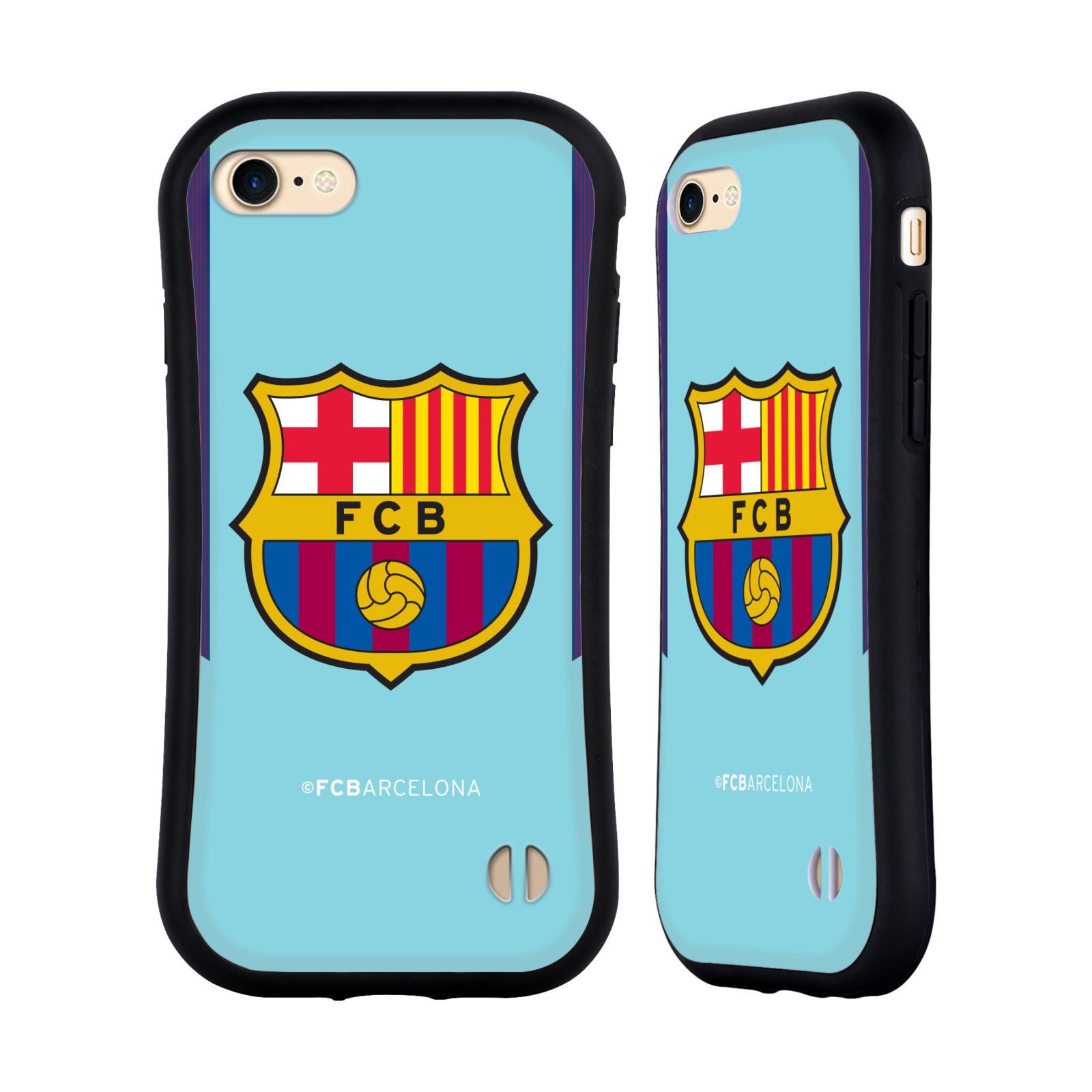 HEAD CASE odolný obal na mobil Apple Iphone 8 Fotbalový klub FC BARCELONA venkovní dres modrá velký znak
