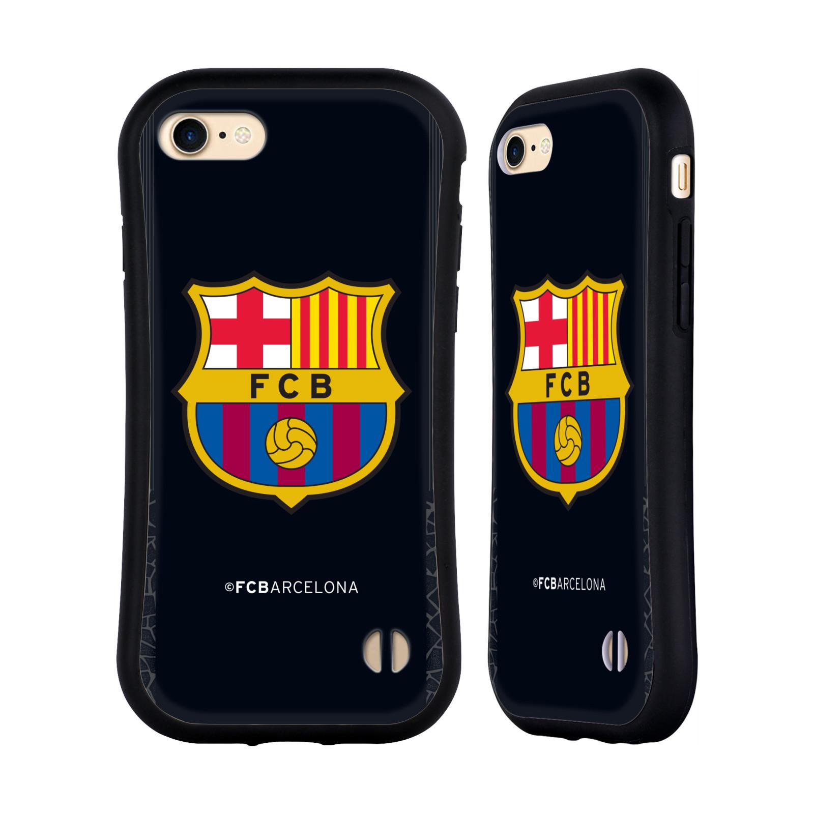 HEAD CASE odolný obal na mobil Apple Iphone 8 Fotbalový klub FC BARCELONA černé pozadí velký znak brankář
