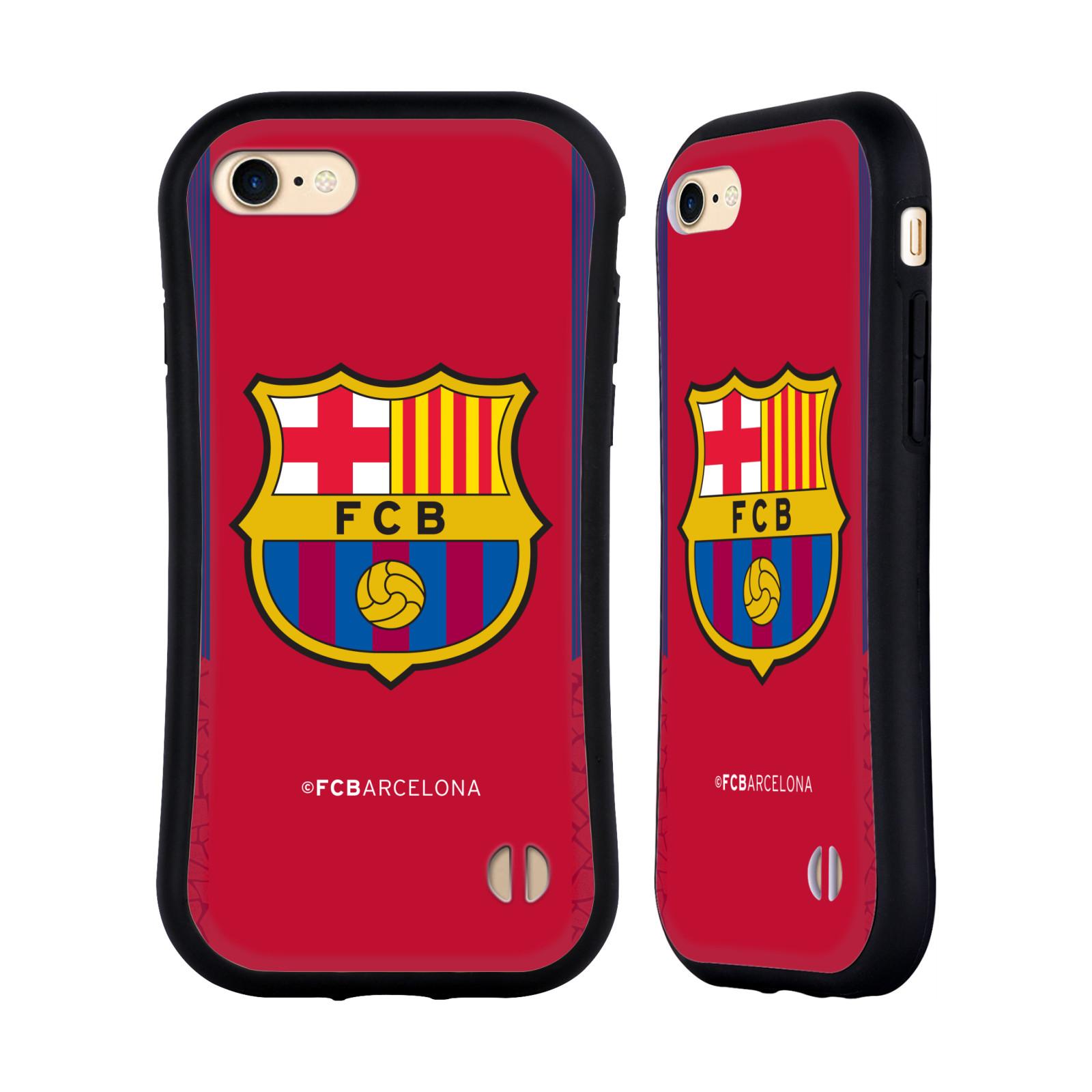 HEAD CASE odolný obal na mobil Apple Iphone 8 Fotbalový klub FC BARCELONA červené pozadí modré pruhy kraje velký znak