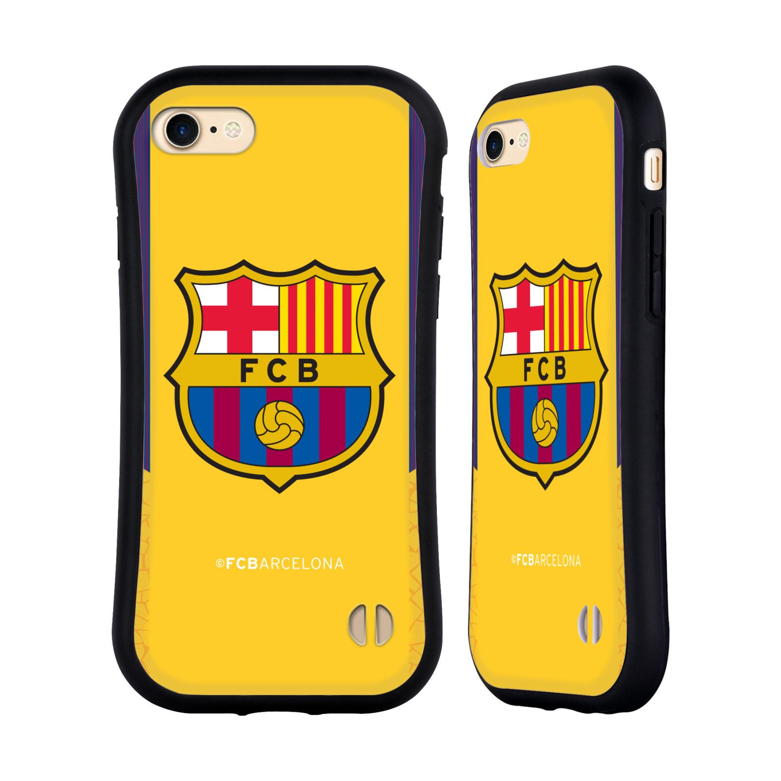 HEAD CASE odolný obal na mobil Apple Iphone 8 Fotbalový klub FC BARCELONA žluté pozadí velký znak brankář