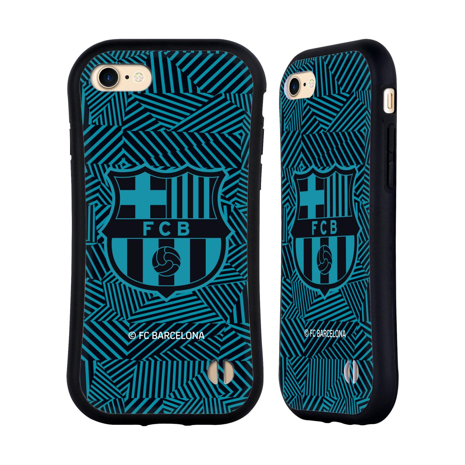 HEAD CASE odolný obal na mobil Apple Iphone 8 Fotbalový klub FC BARCELONA dres 2017/2018 modrá