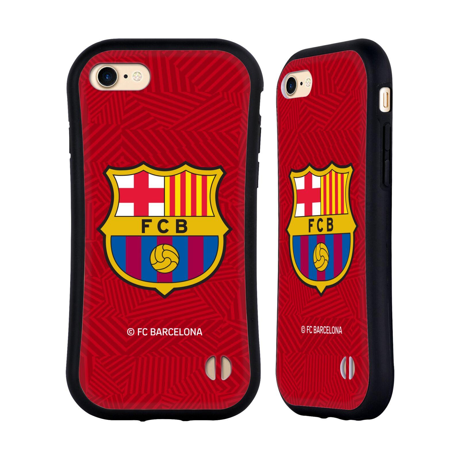 HEAD CASE odolný obal na mobil Apple Iphone 8 Fotbalový klub FC BARCELONA dres 2017/2018 červená vzorkovaná