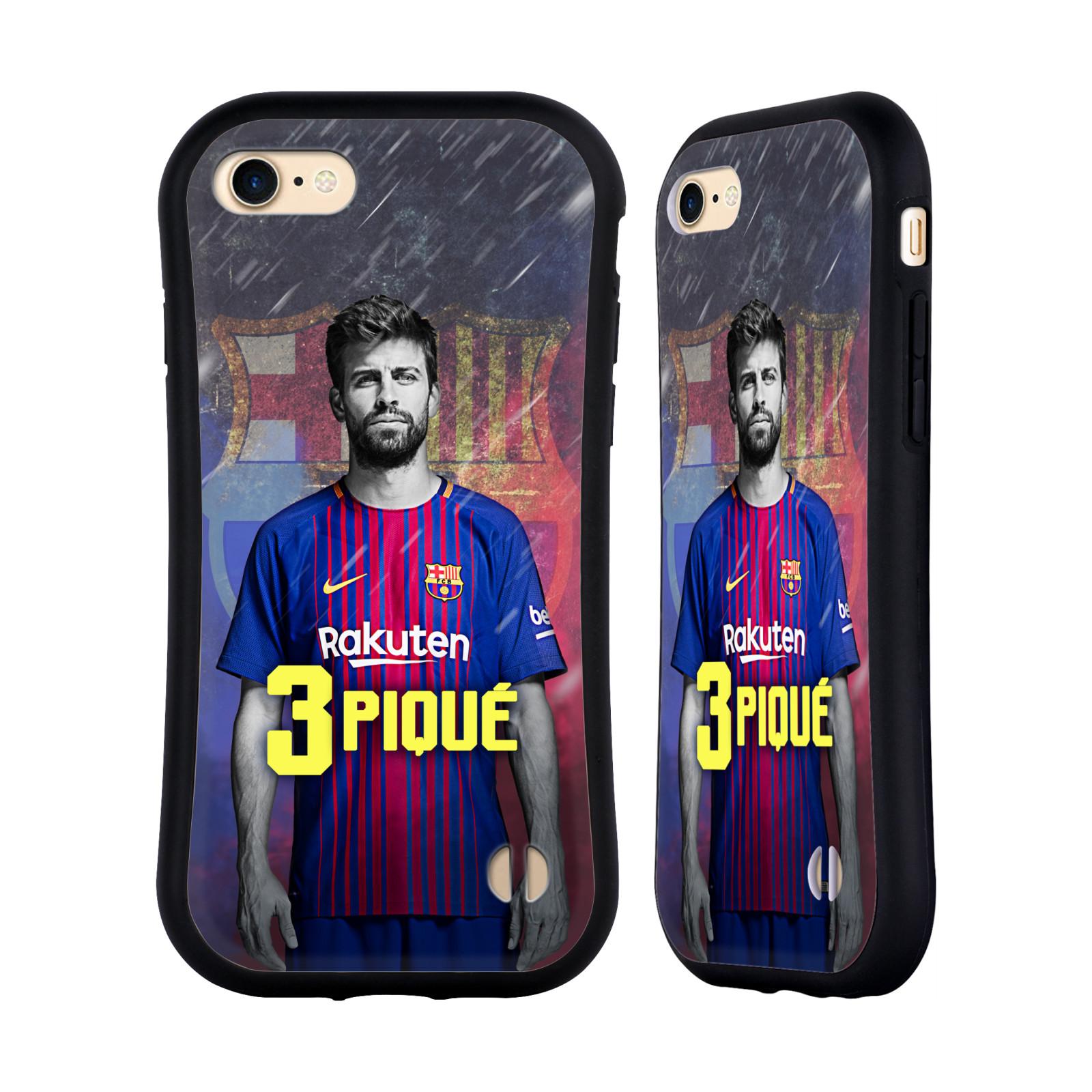 HEAD CASE odolný obal na mobil Apple Iphone 8 Fotbalový klub FC BARCELONA hráč Piqué