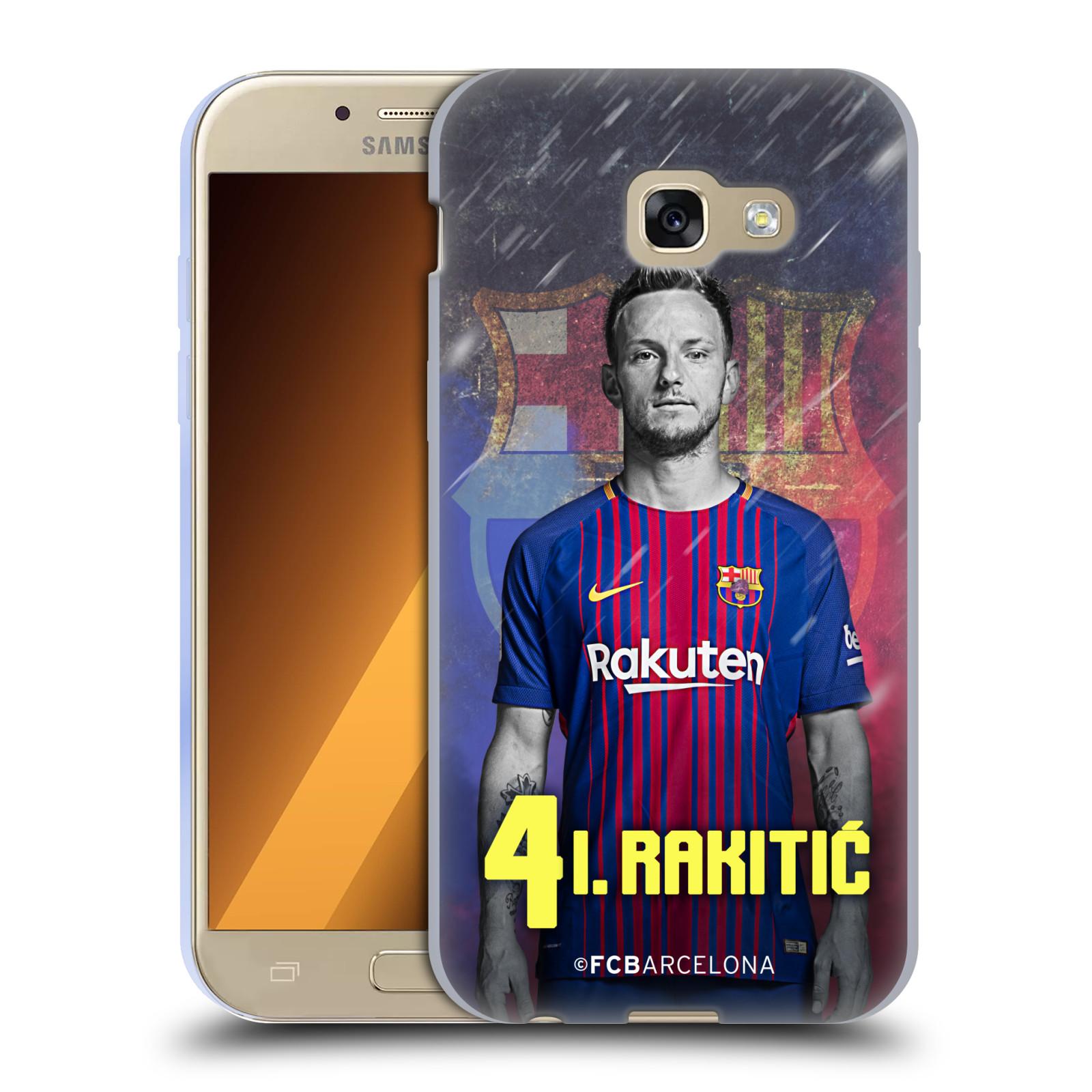 HEAD CASE silikonový obal na mobil Samsung Galaxy A5 2017 (A520) Fotbalový klub FC BARCELONA hráč Ivan Rakitic