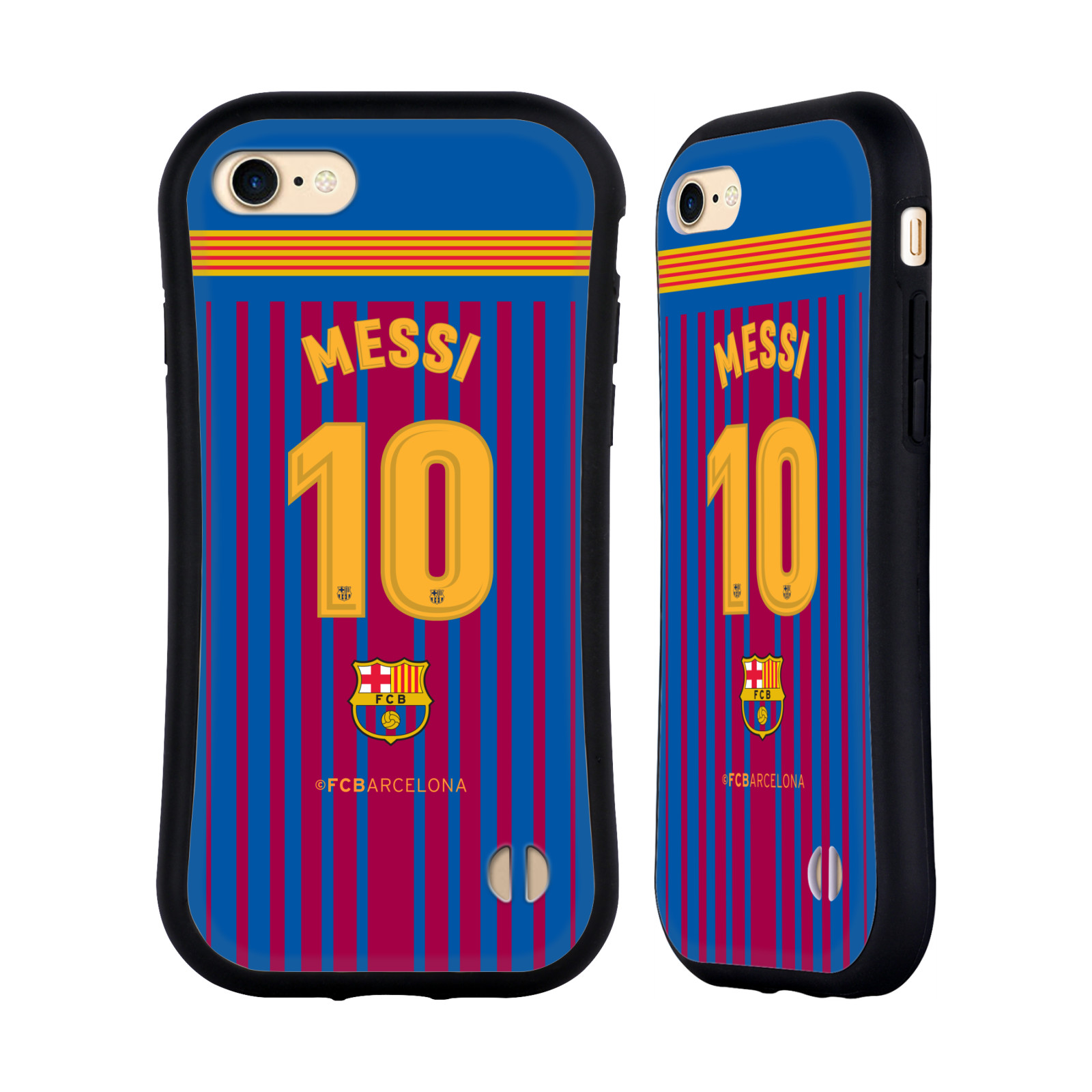 HEAD CASE odolný obal na mobil Apple Iphone 8 Fotbalový klub FC BARCELONA domací dres Messi