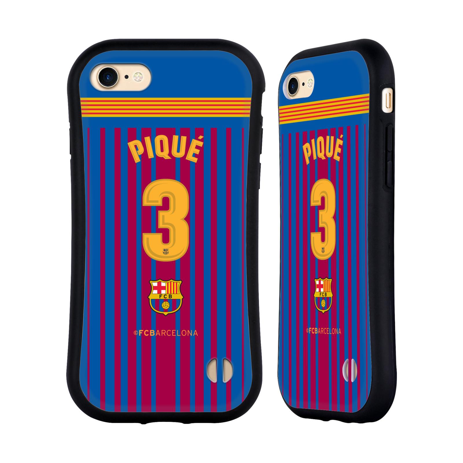 HEAD CASE odolný obal na mobil Apple Iphone 8 Fotbalový klub FC BARCELONA domací dres Piqué