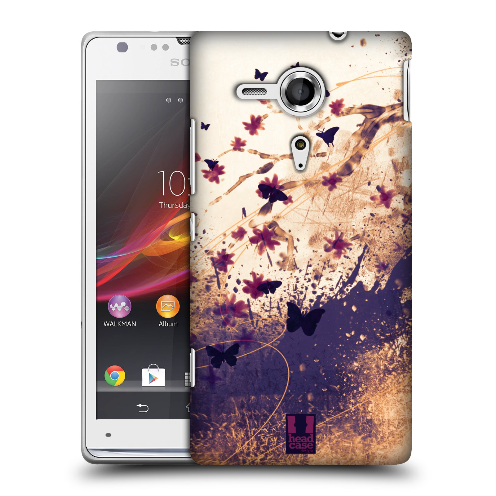 HEAD CASE DESIGNS FLORAL DRIPS CASE COVER FOR SONY XPERIA SP C5303