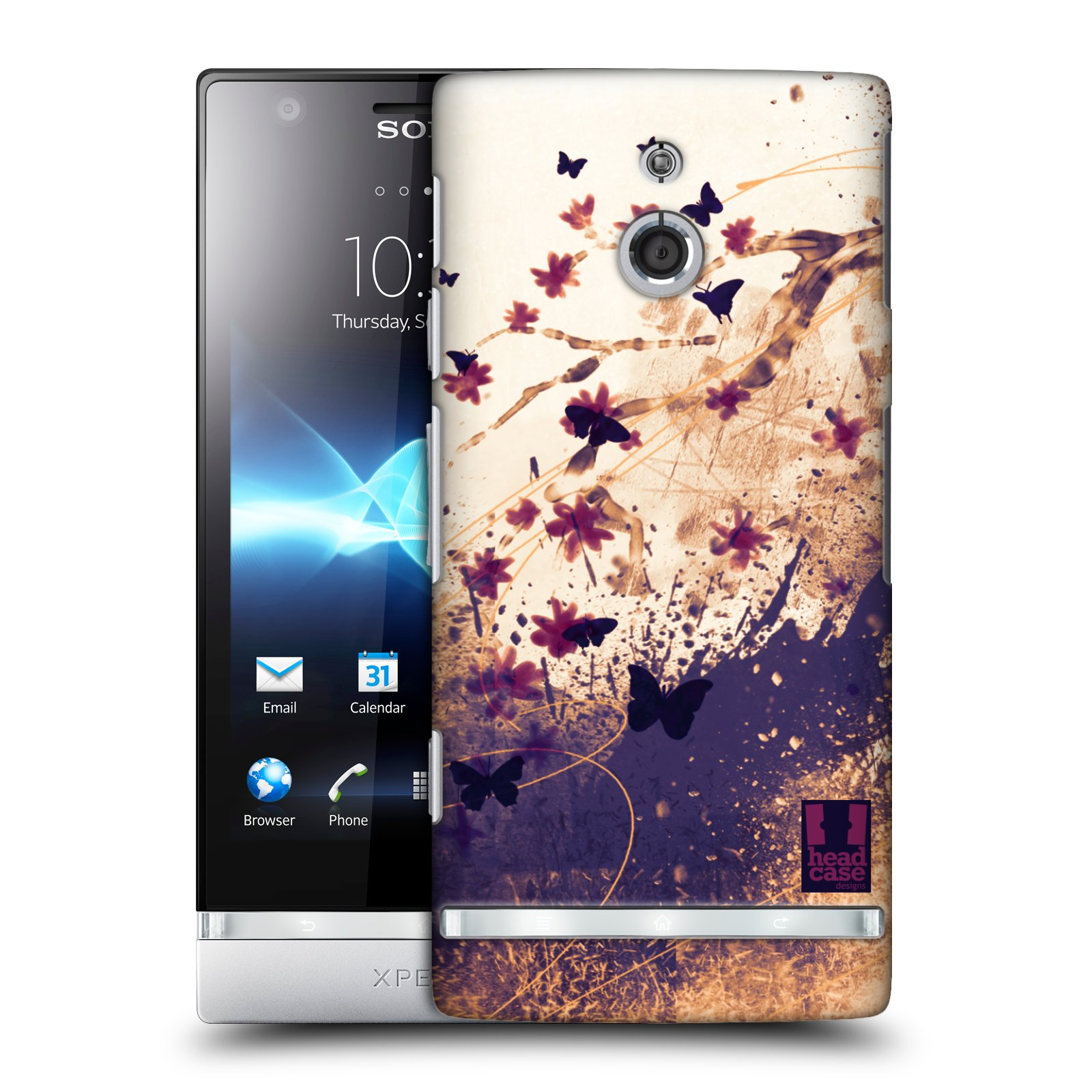 HEAD CASE DESIGNS FLORAL DRIPS CASE COVER FOR SONY XPERIA P LT22i