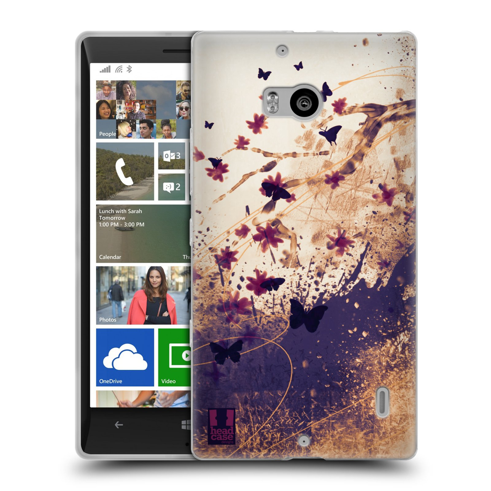 HEAD CASE FLORAL DRIPS SILICONE GEL CASE FOR NOKIA LUMIA 930